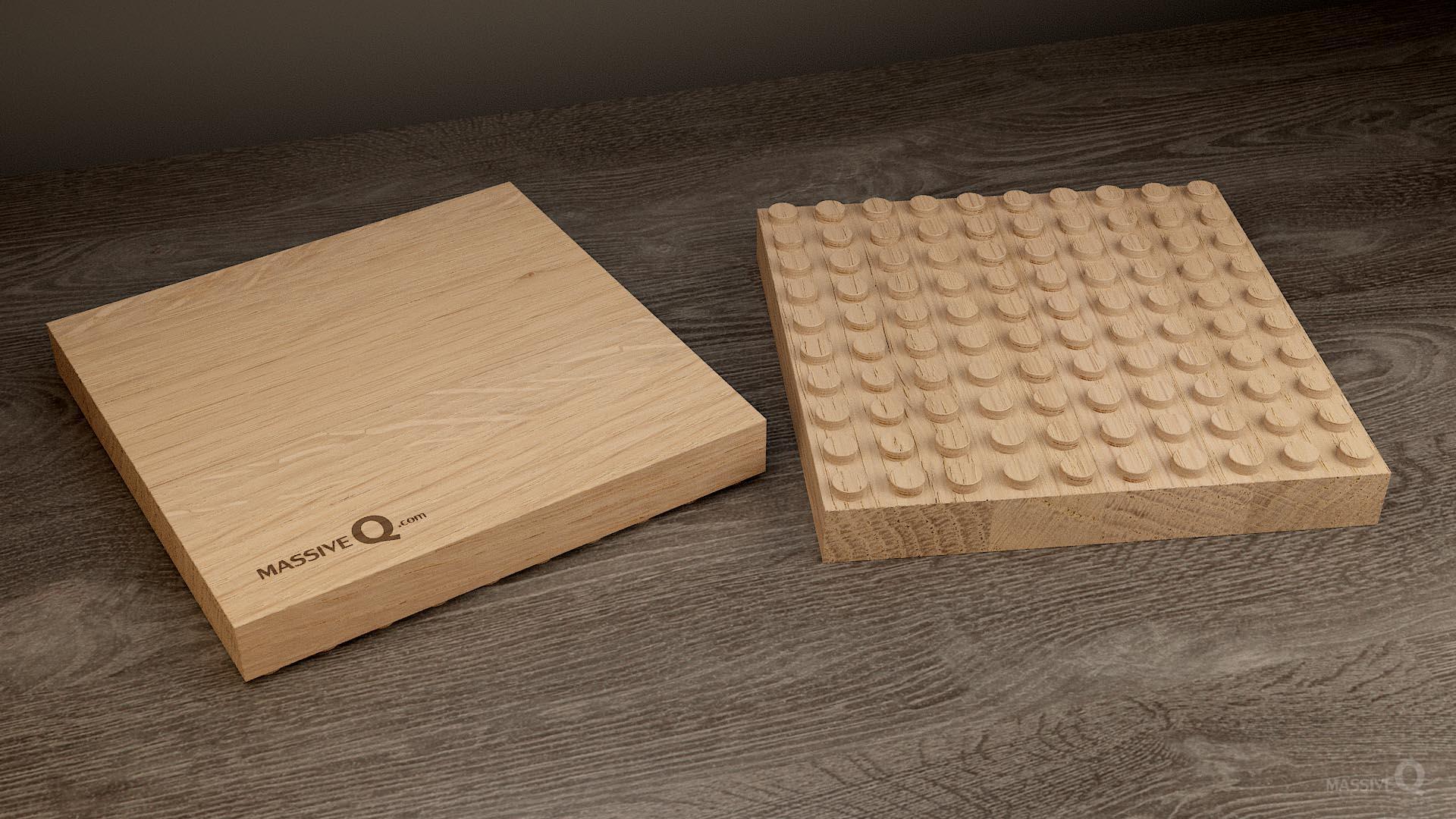 Q Baseplate 10x10x3 – Oak