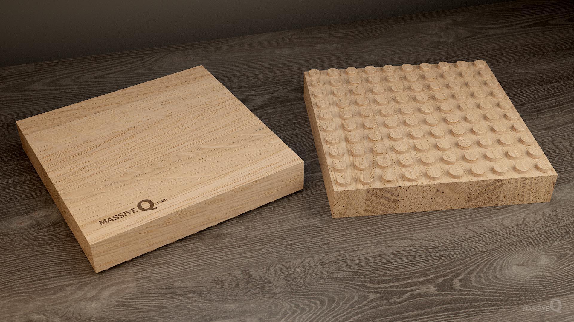 Q Baseplate 10x10x4 – Oak
