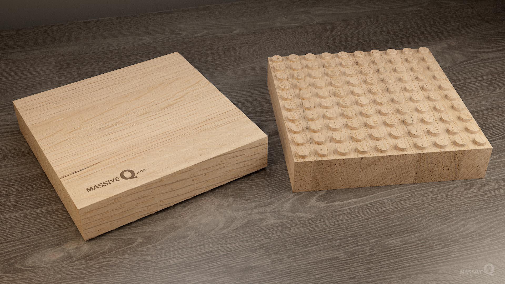 Q Baseplate 10x10x5 – Oak