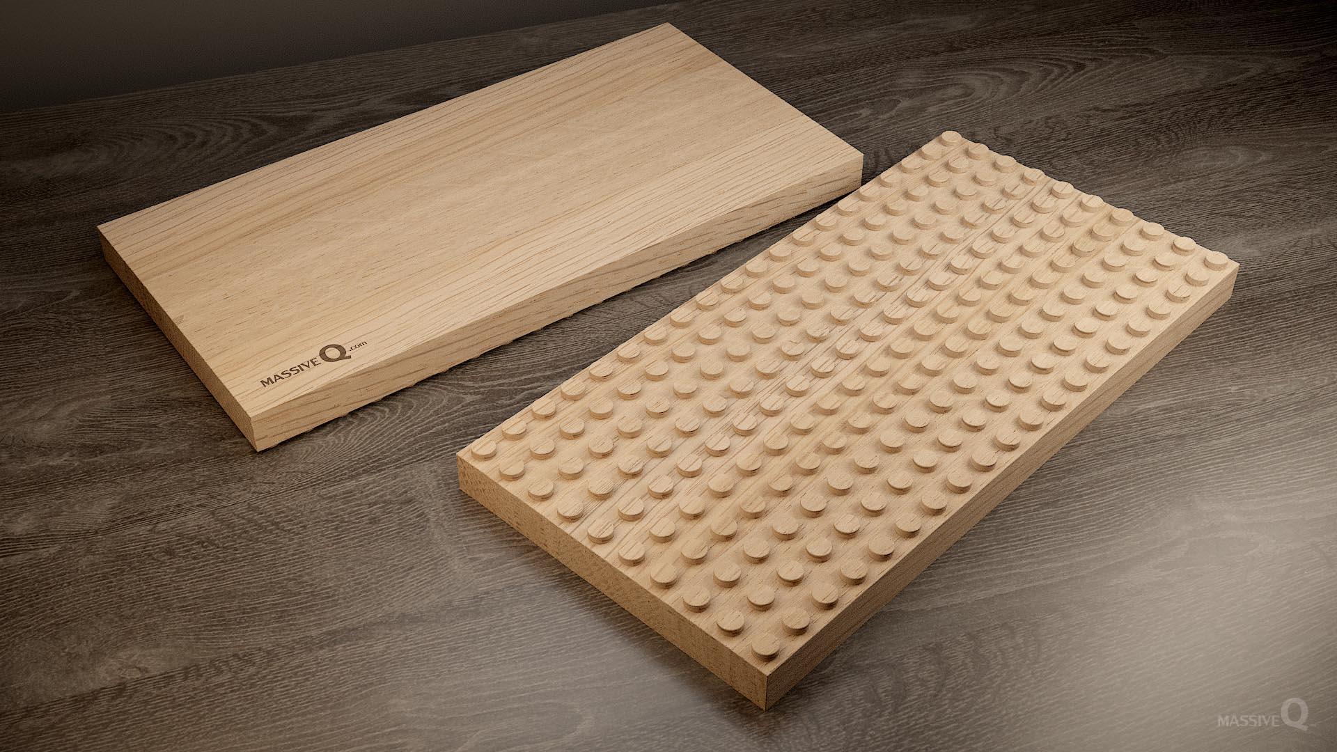 Q Baseplate 10x20x3 – Oak