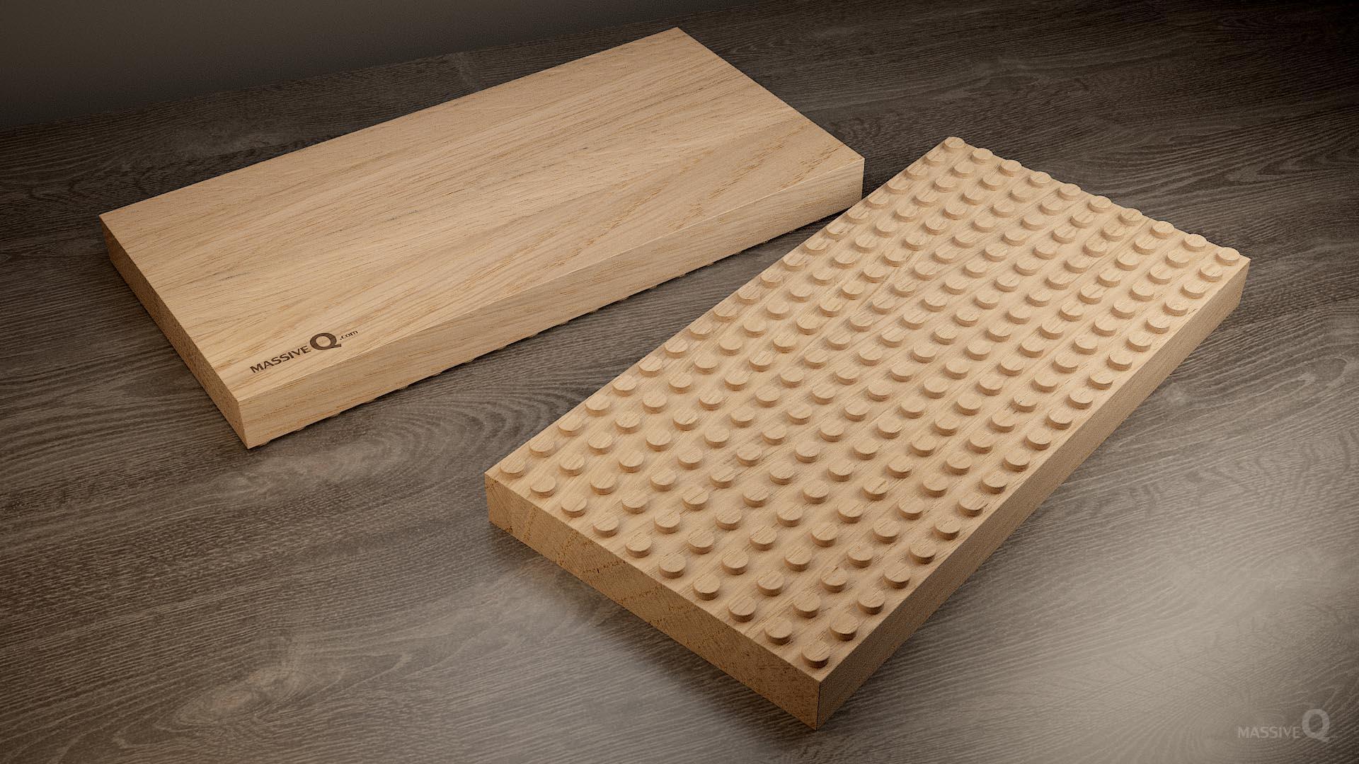 Q Baseplate 10x20x4 – Oak