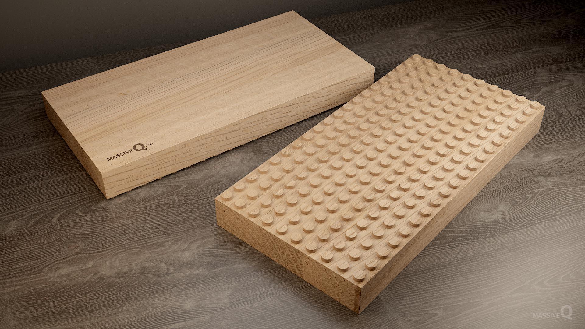 Q Baseplate 10x20x5 – Oak