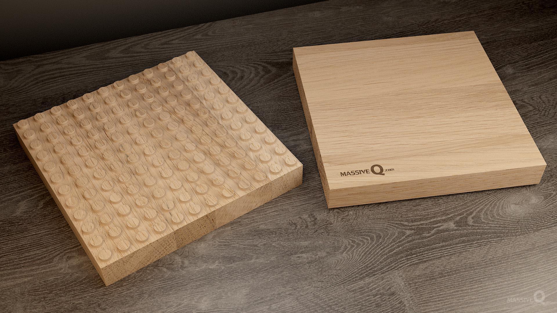 Q Baseplate 12x12x4 – Oak