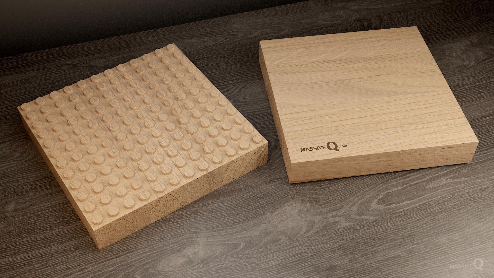 Q Baseplate 12x12x5 – Oak