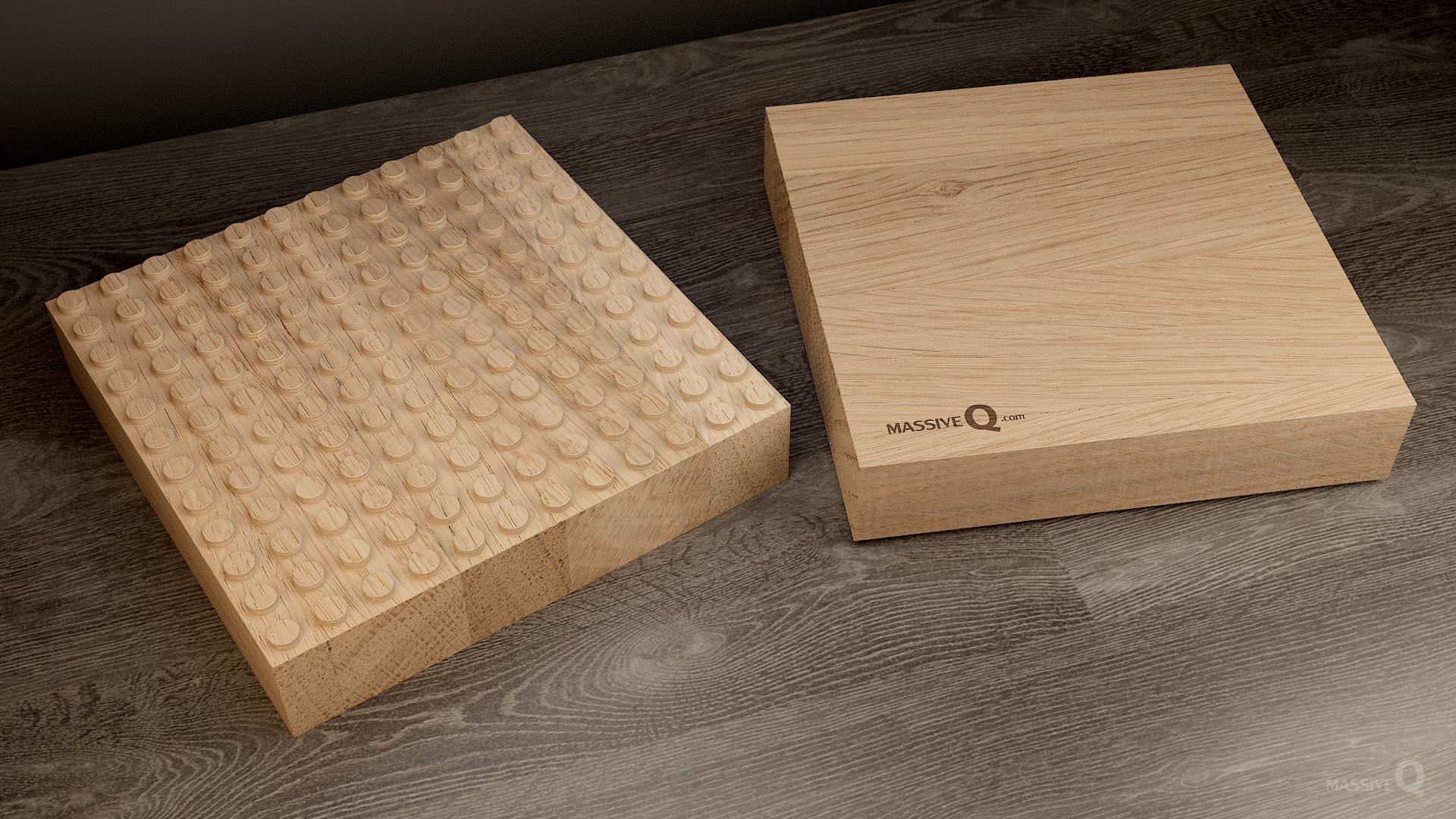 Q Baseplate 12x12x6 – Oak