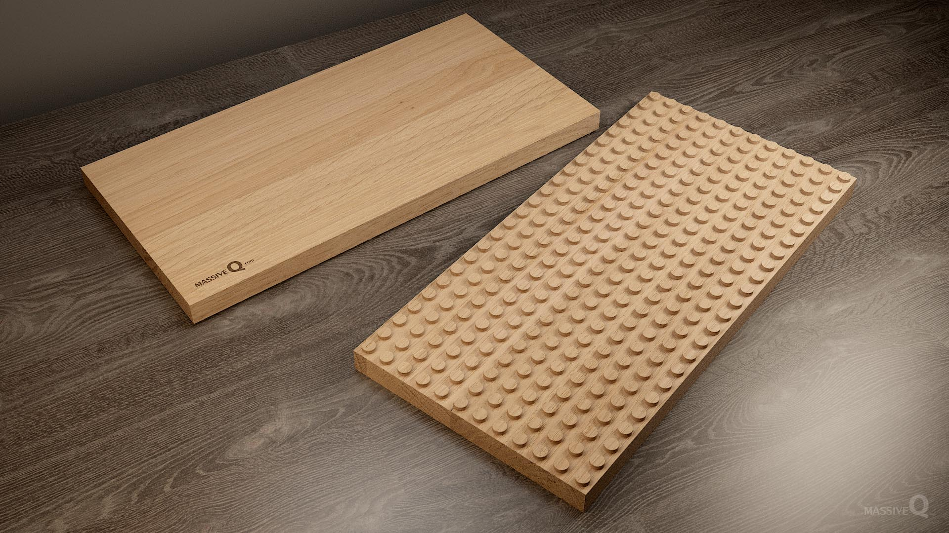 Q Baseplate 12x24x3 – Oak