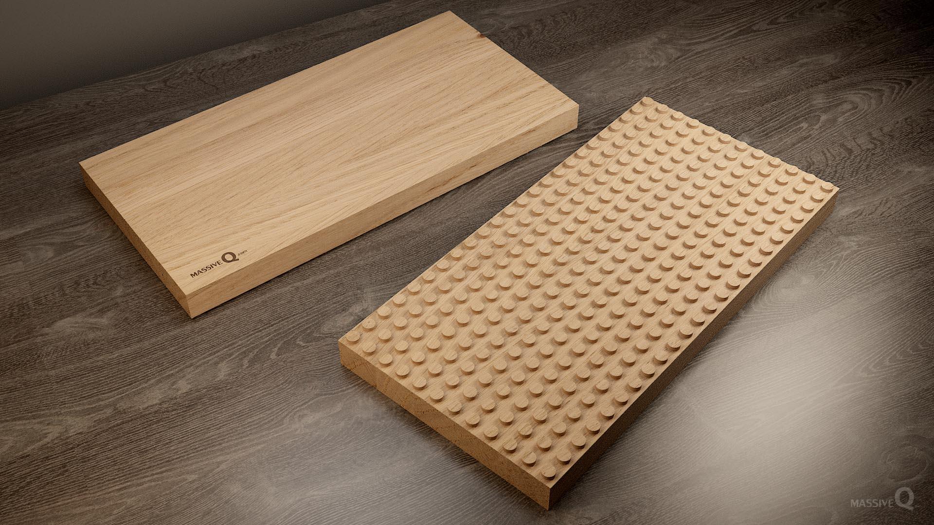 Q Baseplate 12x24x4 – Oak