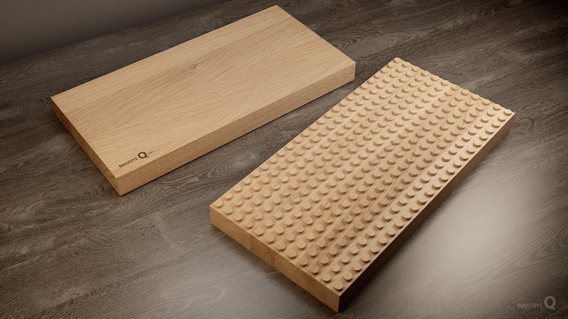Q Baseplate 12x24x5 – Oak