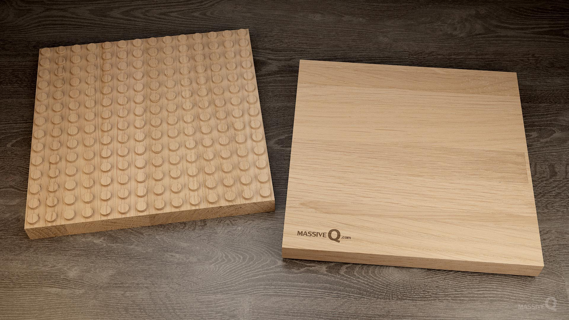 Q Baseplate 14x14x3 – Oak
