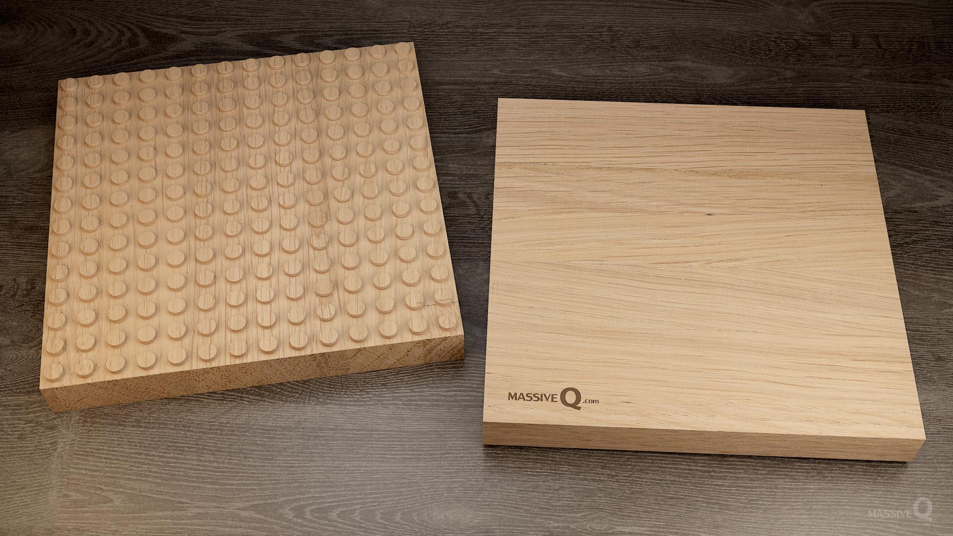 Q Baseplate 14x14x4 – Oak
