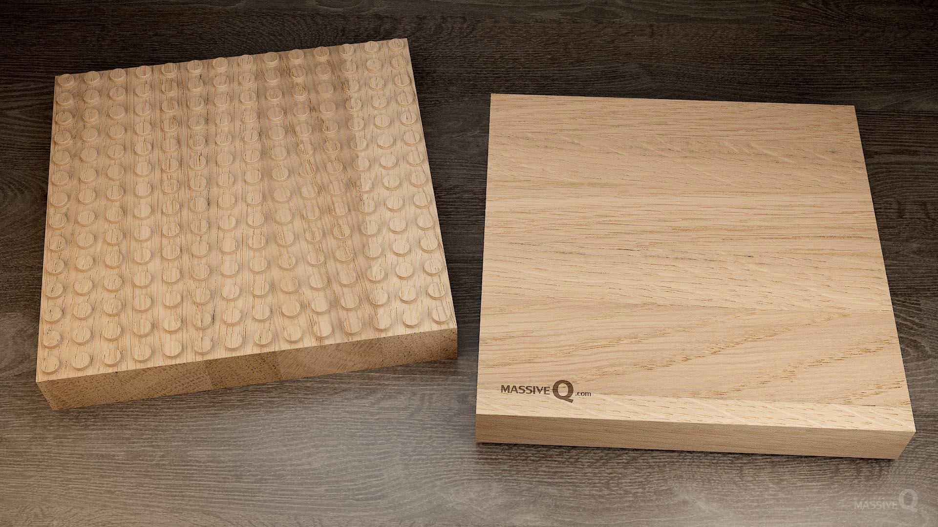 Q Baseplate 14x14x5 – Oak