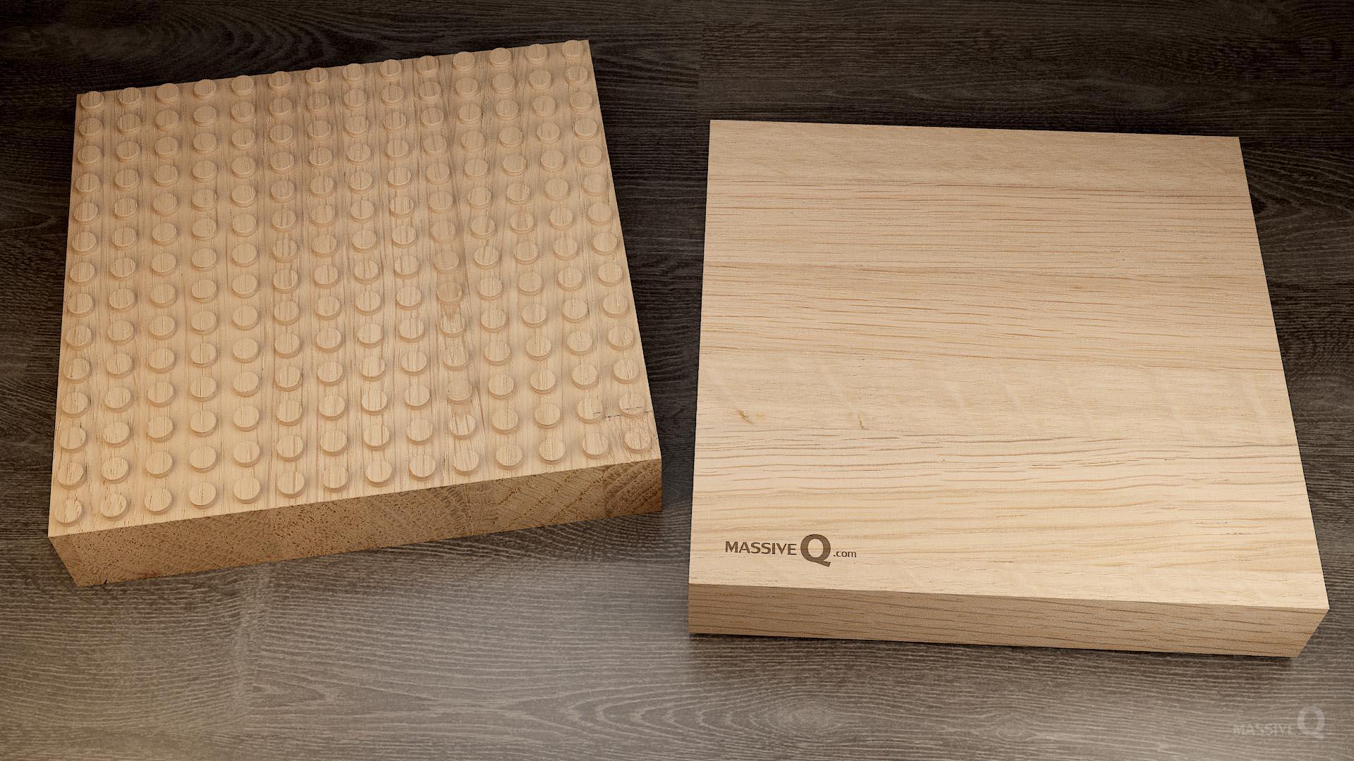 Q Baseplate 14x14x6 – Oak