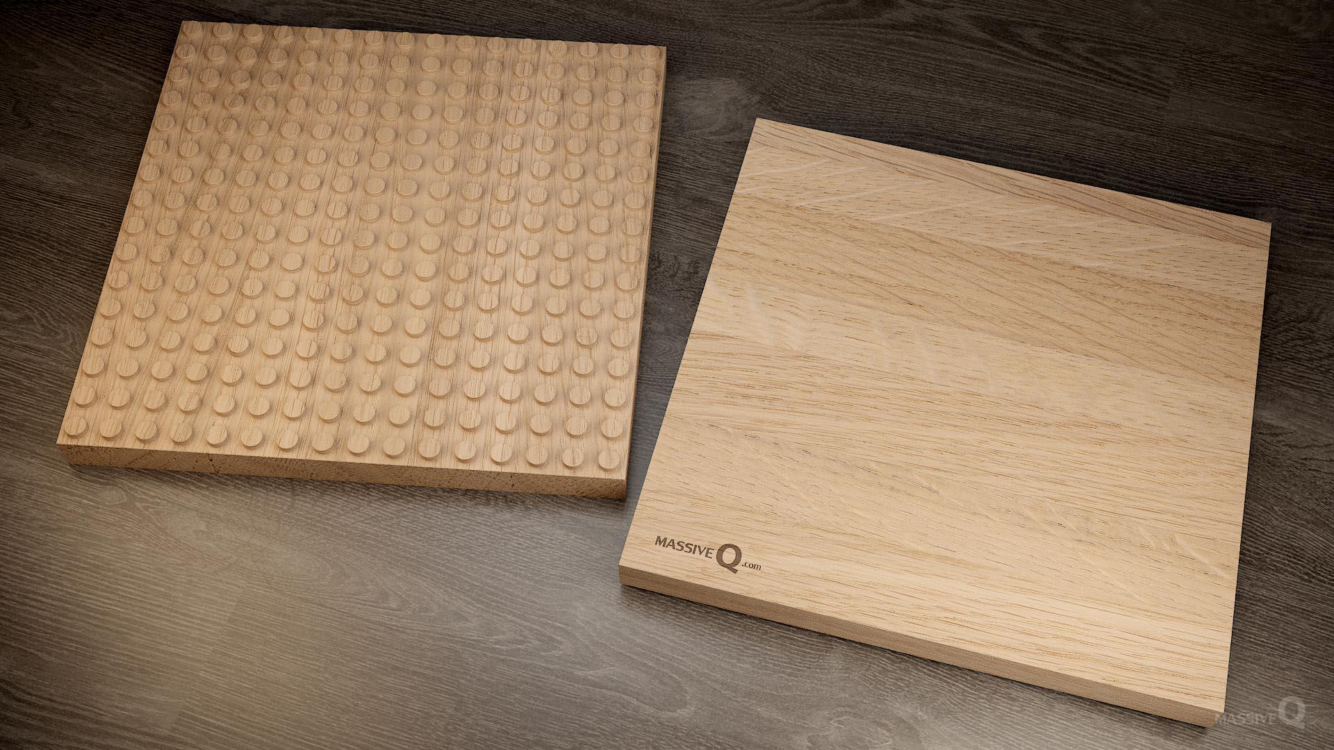 Q Baseplate 16x16x3 – Oak