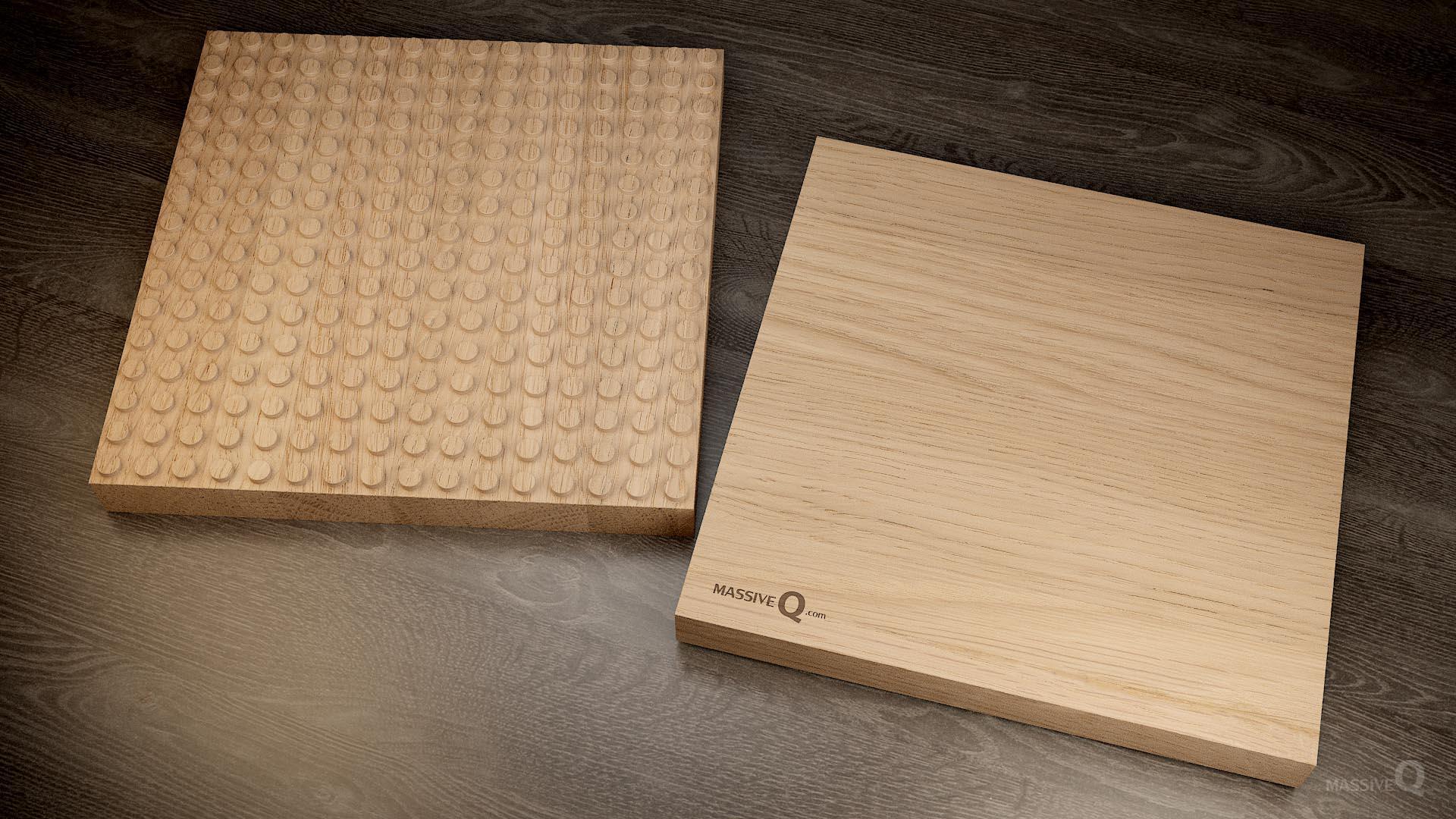 Q Baseplate 16x16x4 – Oak