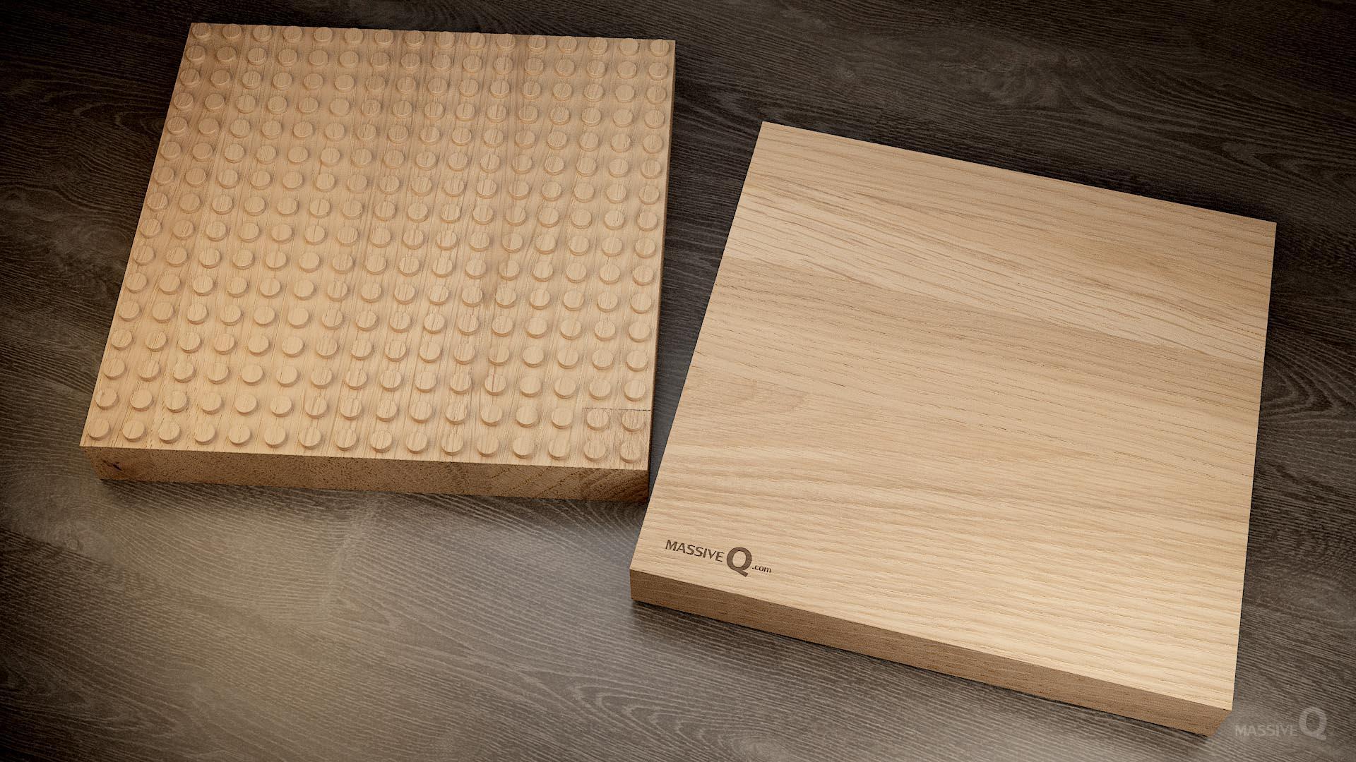 Q Baseplate 16x16x5 – Oak