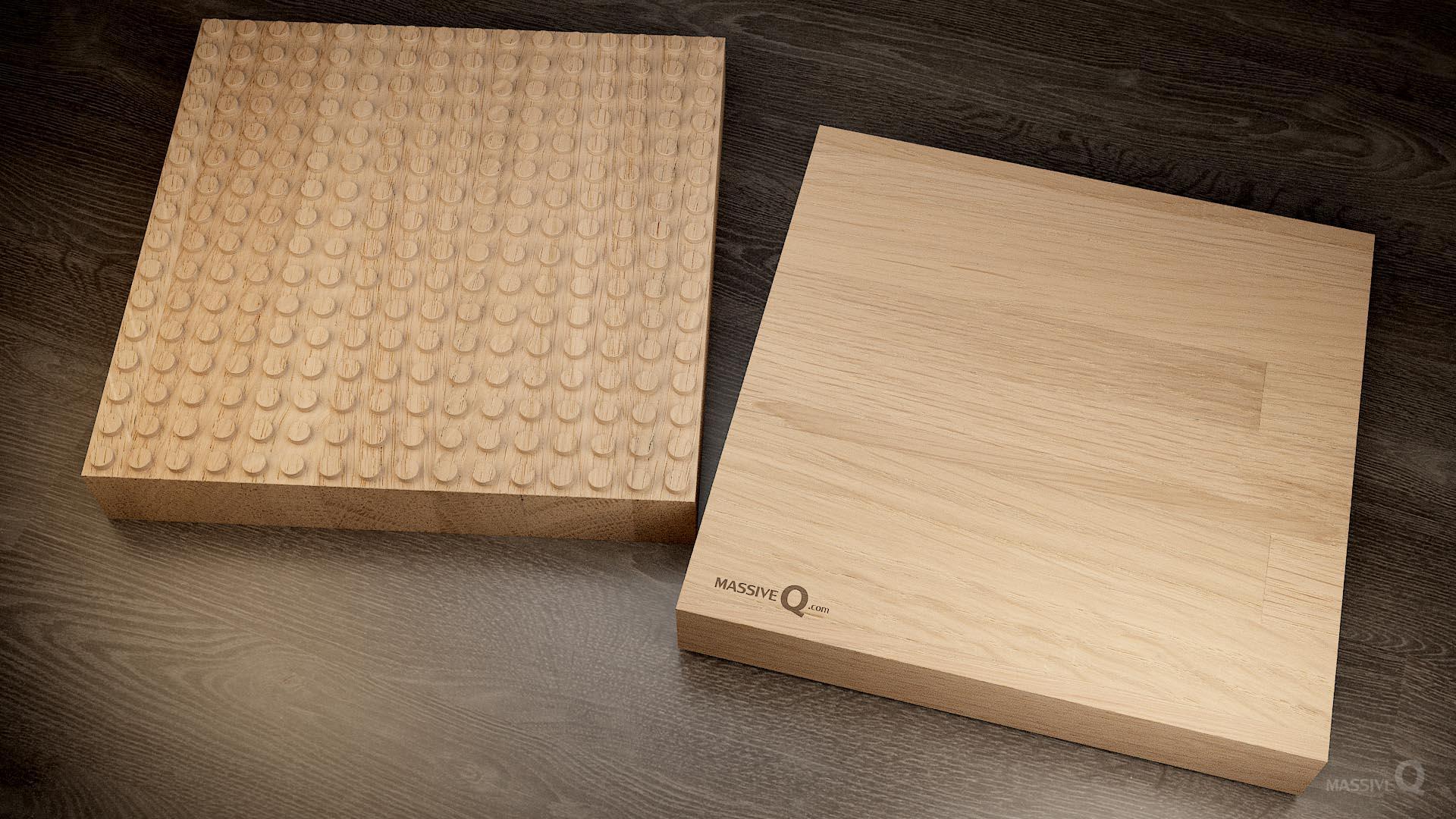 Q Baseplate 16x16x6 – Oak