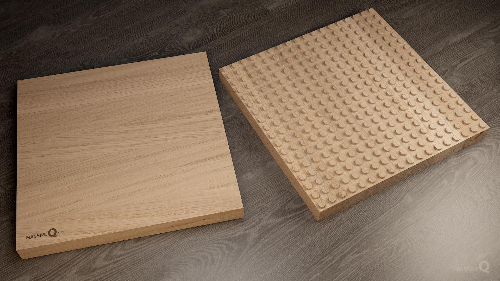Q Baseplate 18x18x4 – Oak