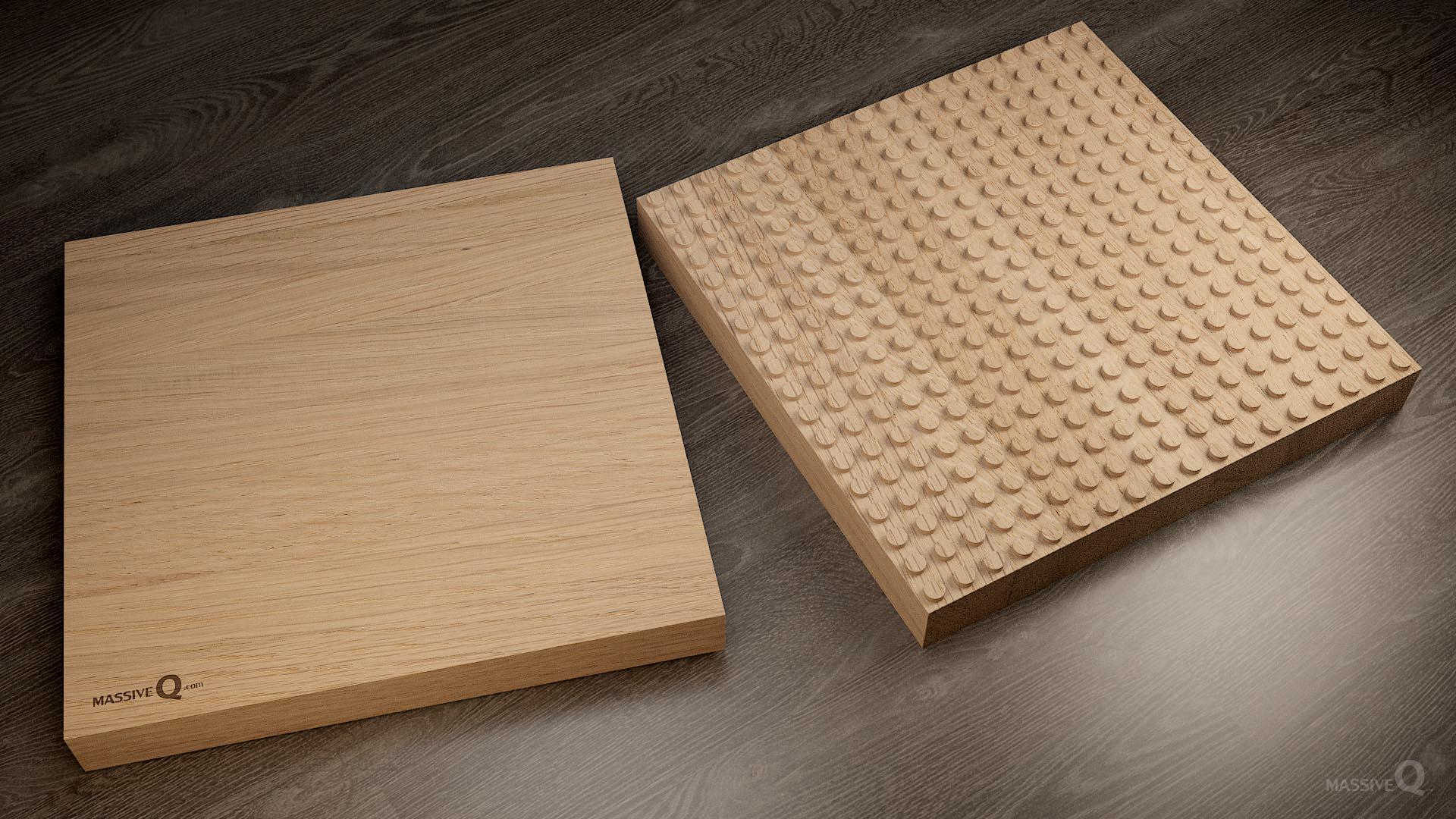 Q Baseplate 18x18x5 – Oak