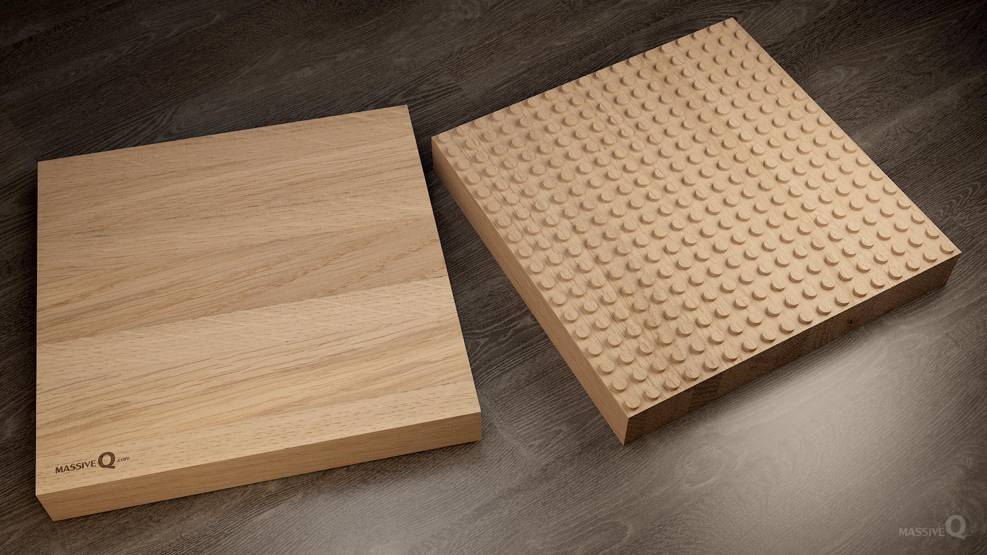 Q Baseplate 18x18x6 – Oak