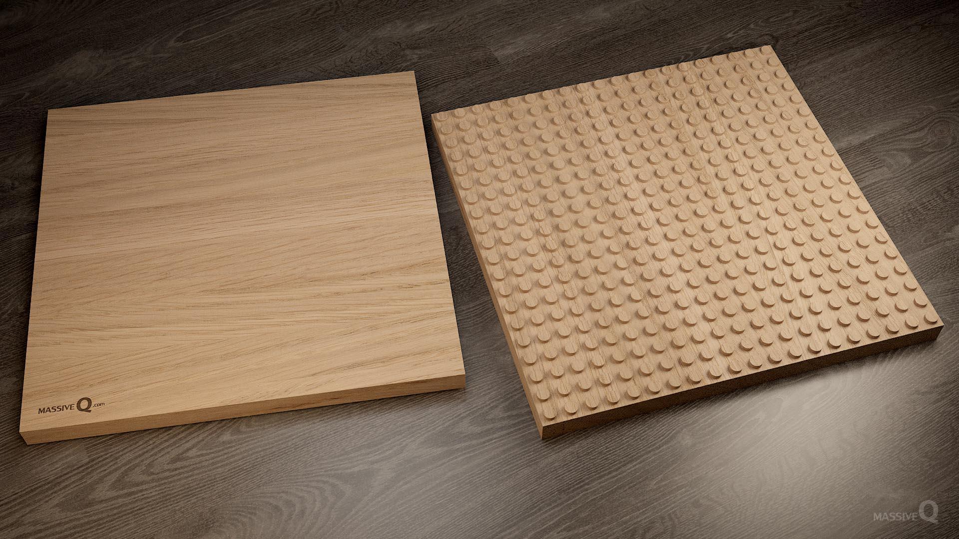 Q Baseplate 20x20x3 – Oak
