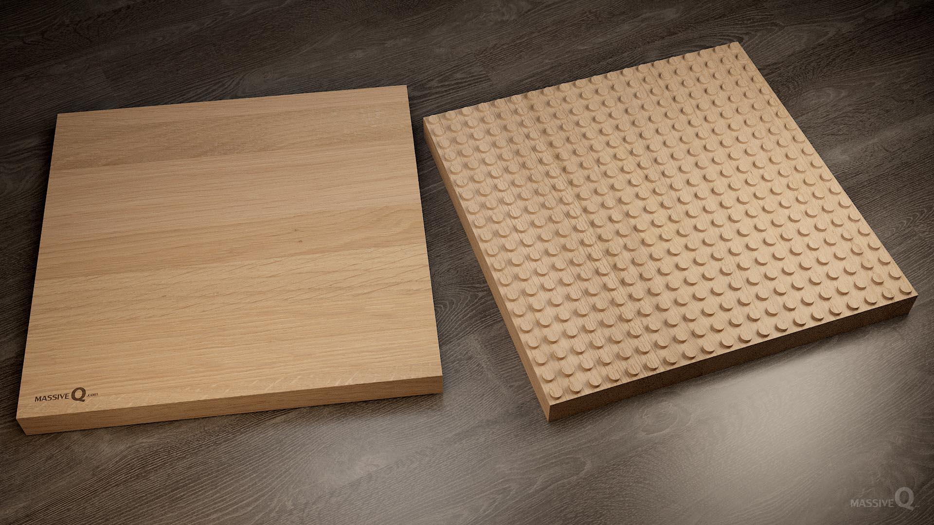 Q Baseplate 20x20x4 – Oak