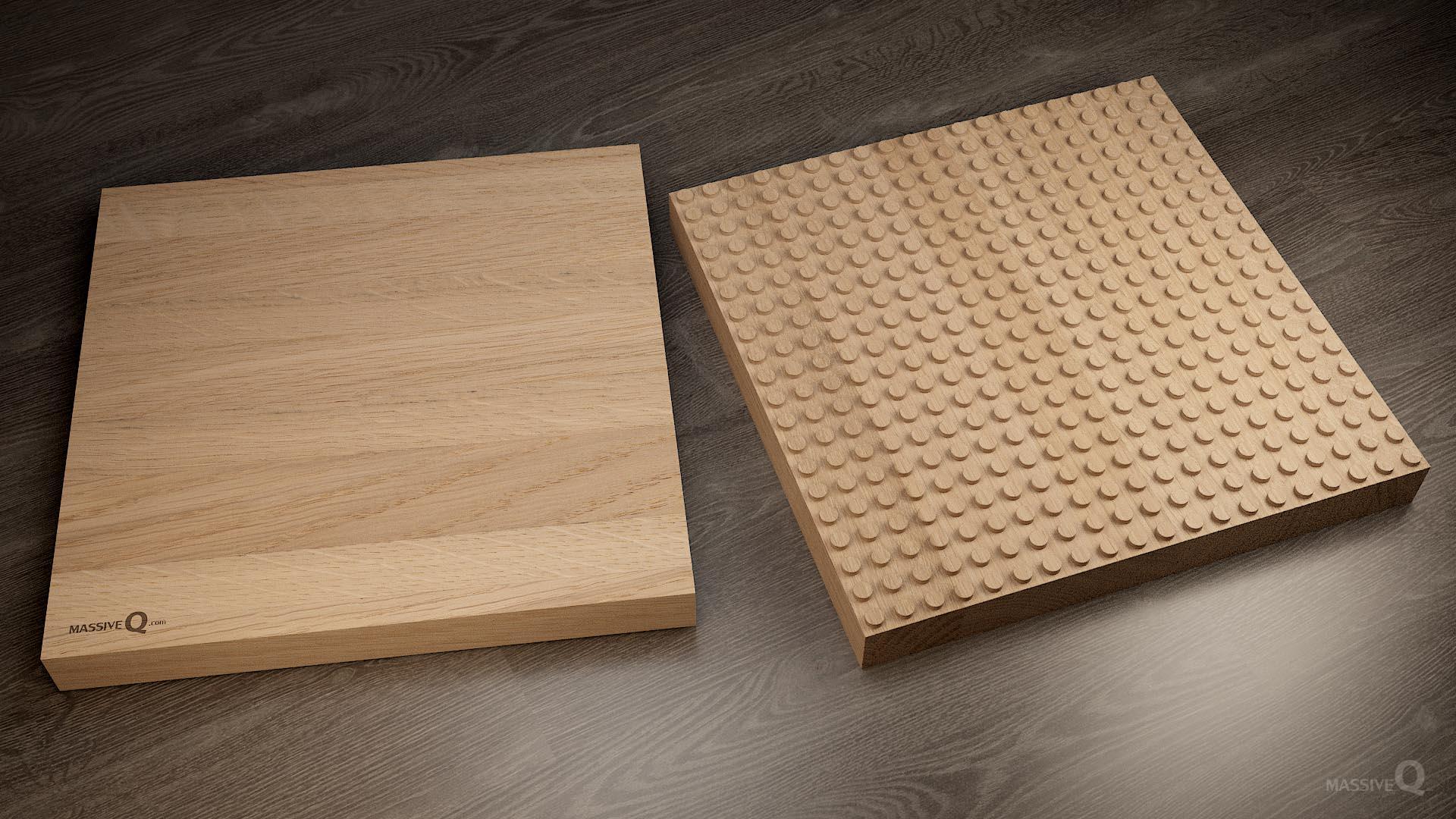 Q Baseplate 20x20x5 – Oak