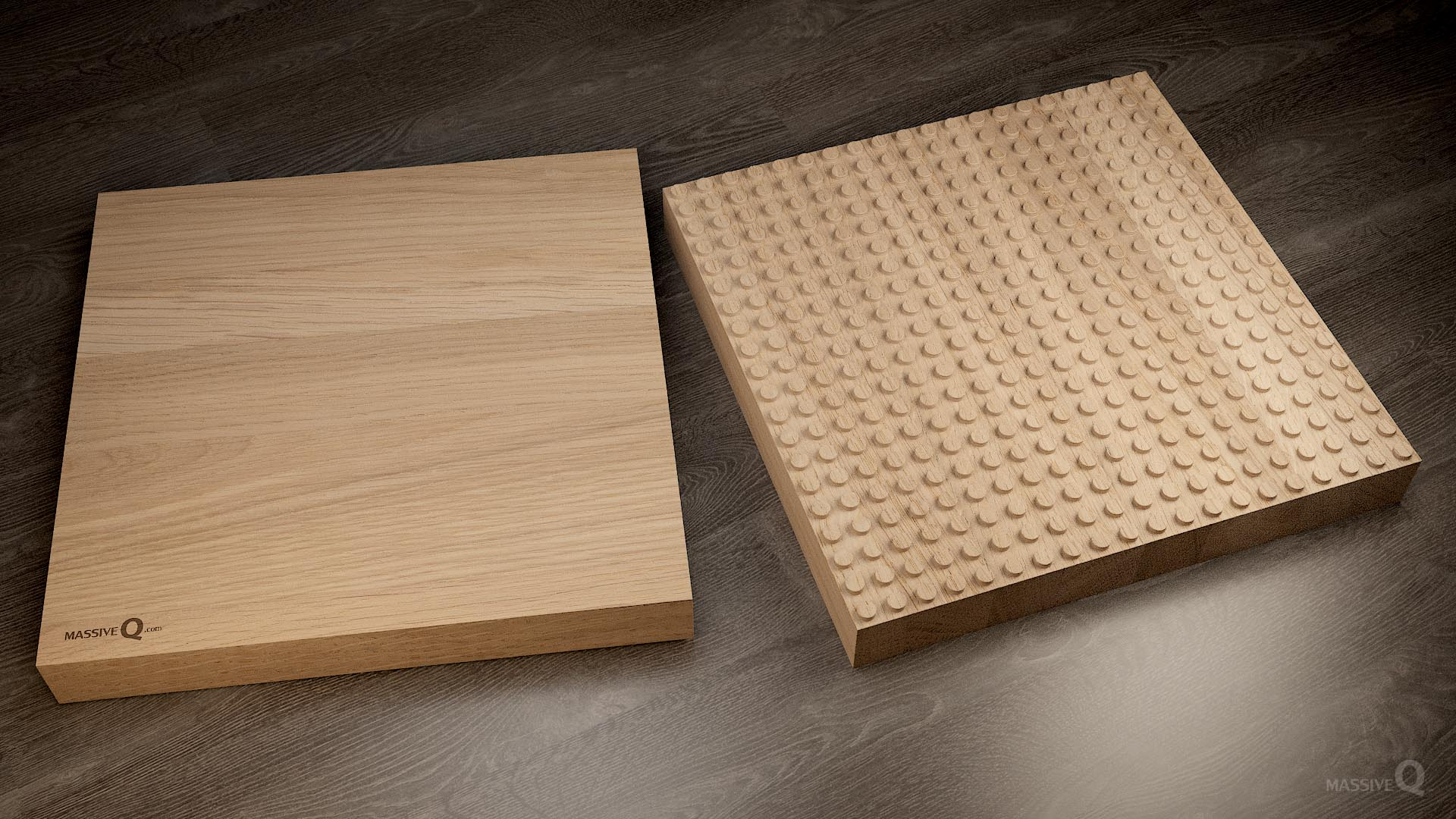 Q Baseplate 20x20x6 – Oak