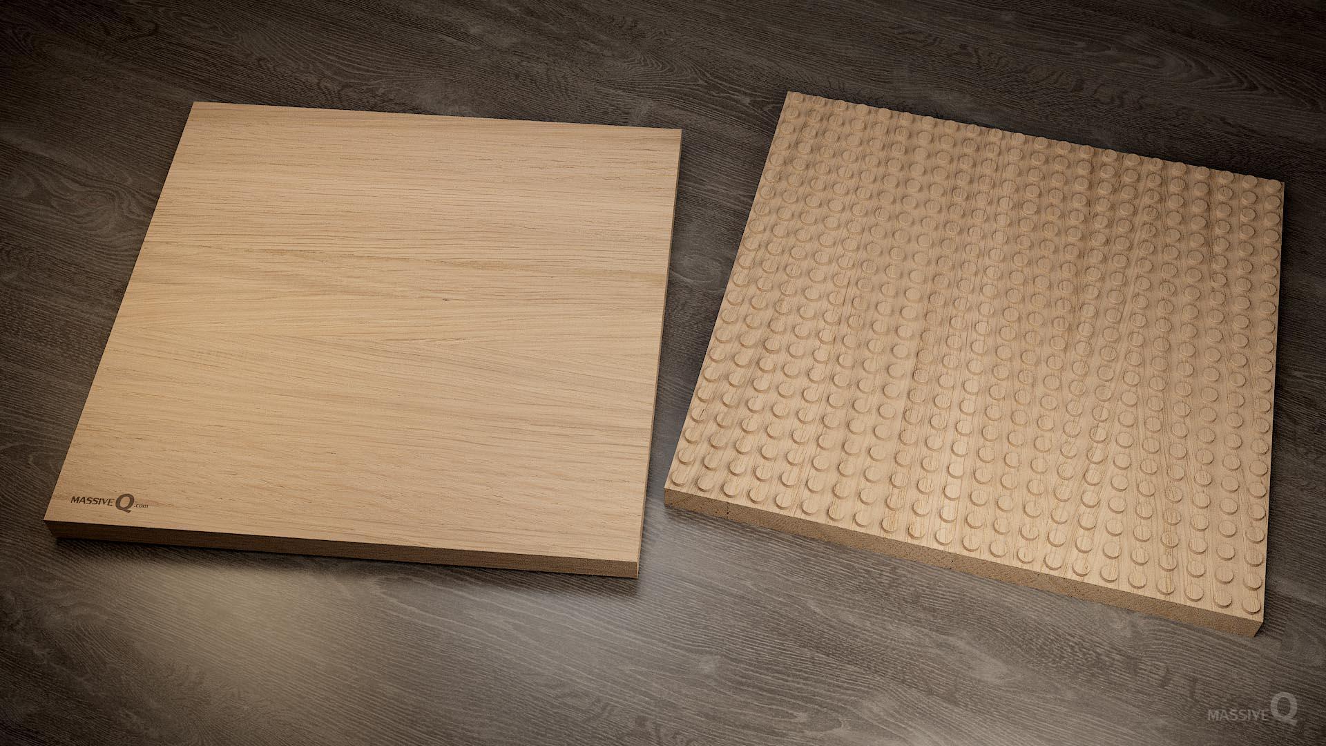 Q Baseplate 22x22x3 – Oak