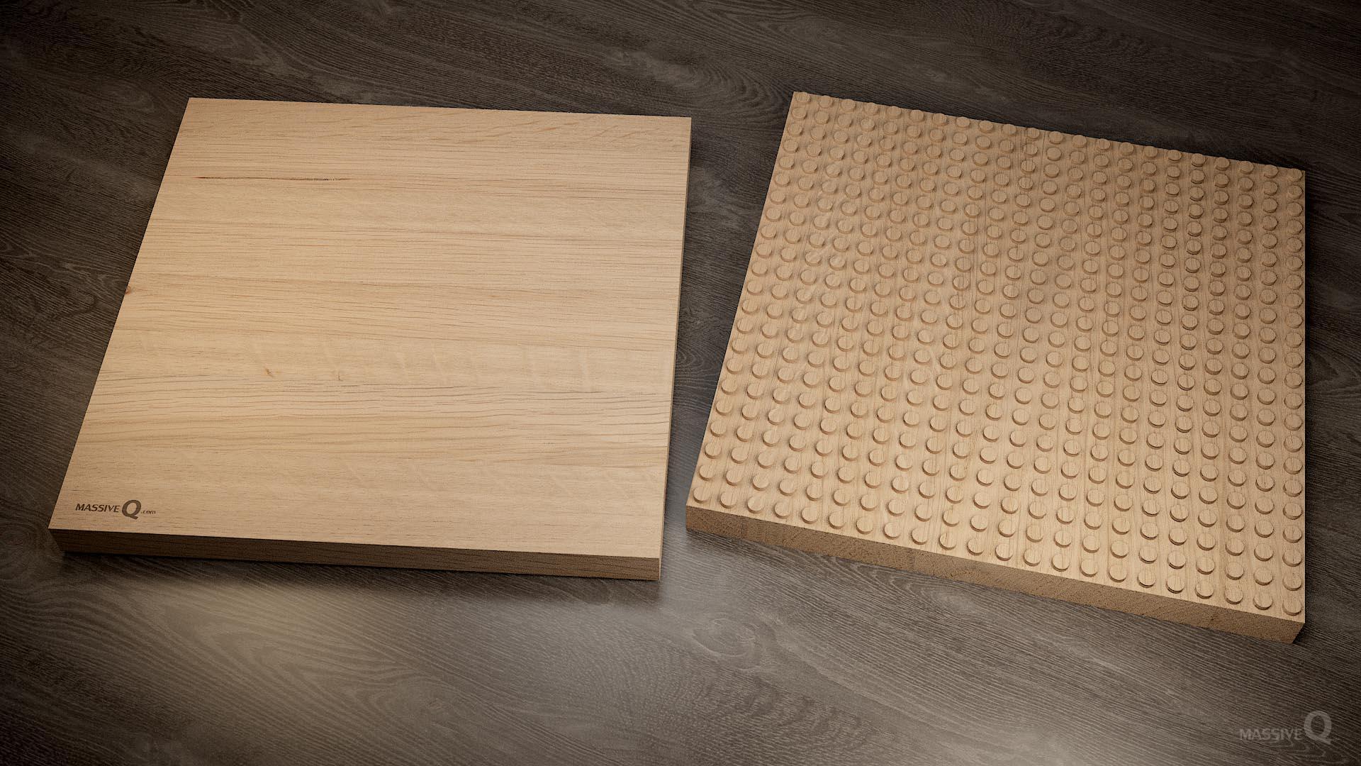 Q Baseplate 22x22x4 – Oak