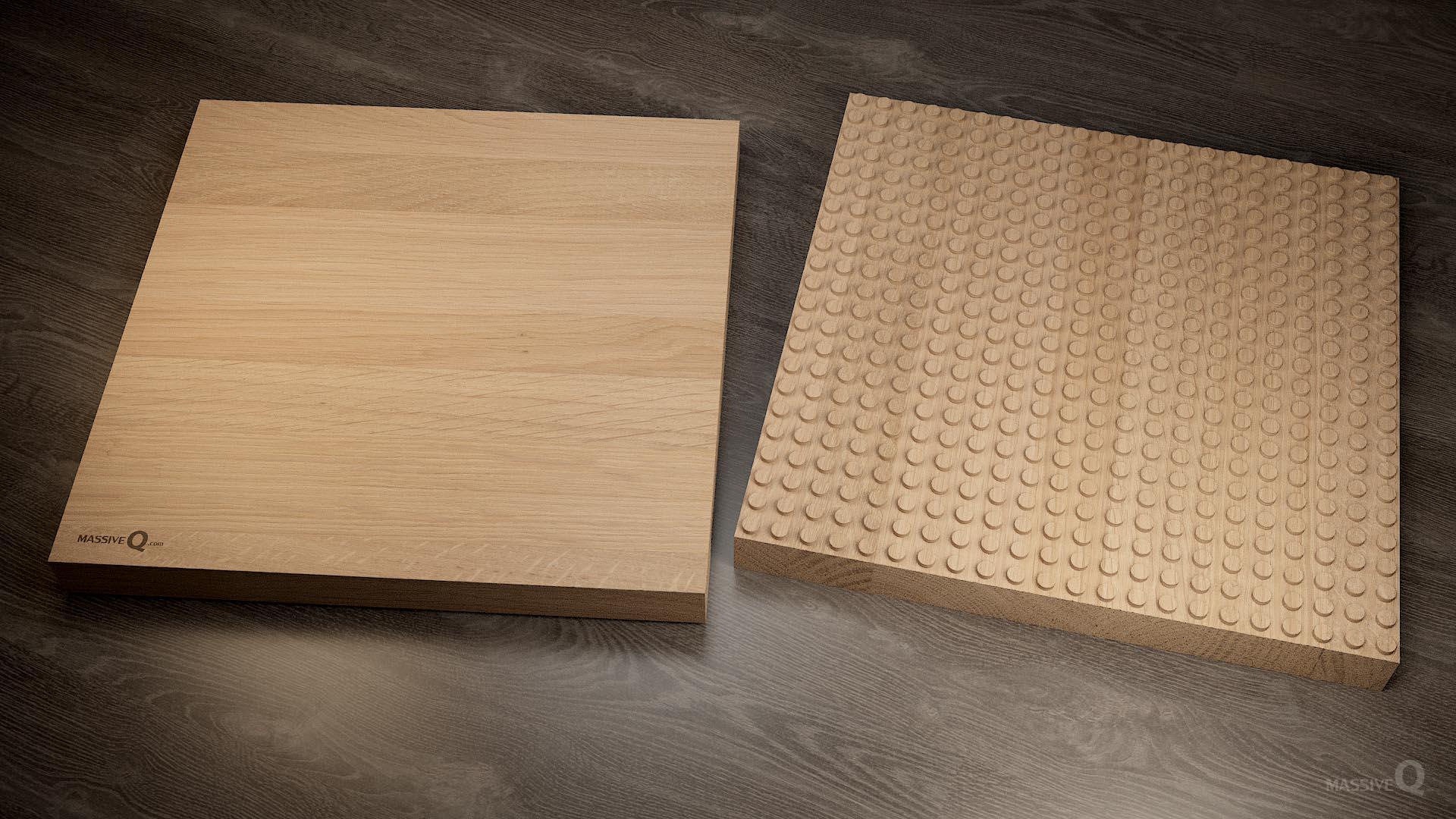 Q Baseplate 22x22x5 – Oak