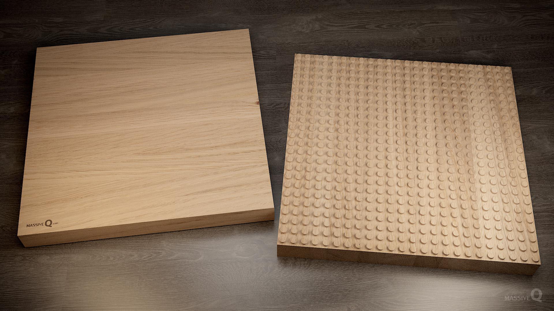 Q Baseplate 24x24x6 – Oak