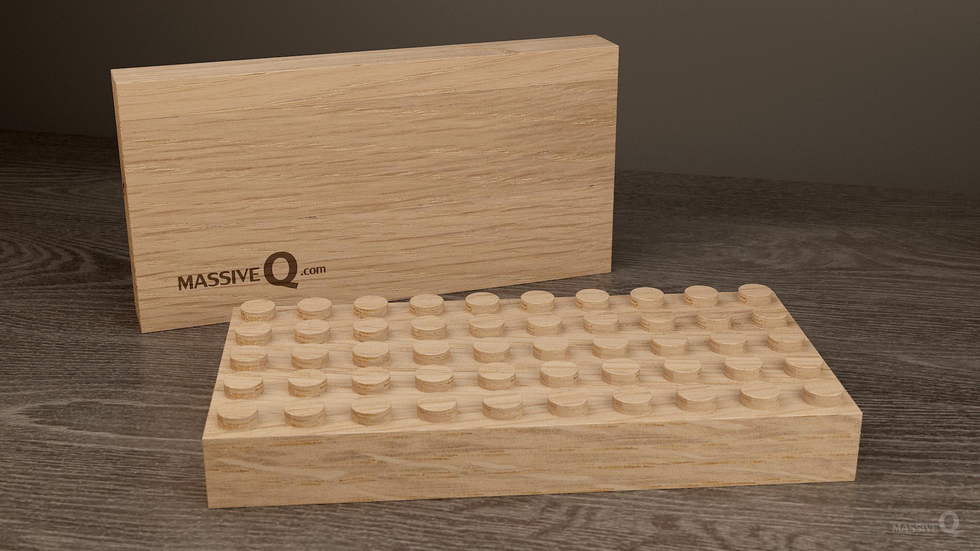 Q Baseplate 5x10x3 – Oak