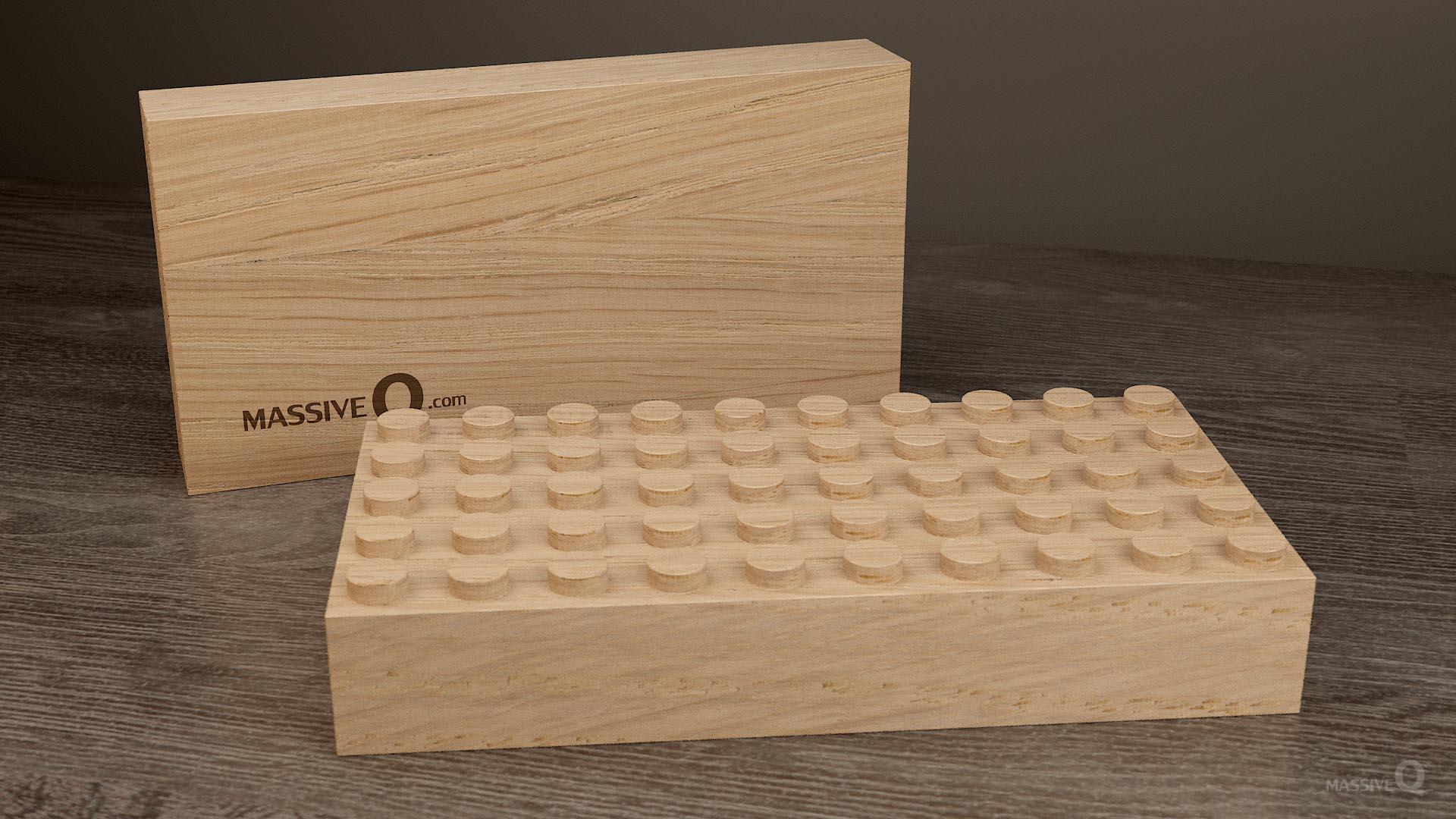 Q Baseplate 5x10x4 – Oak