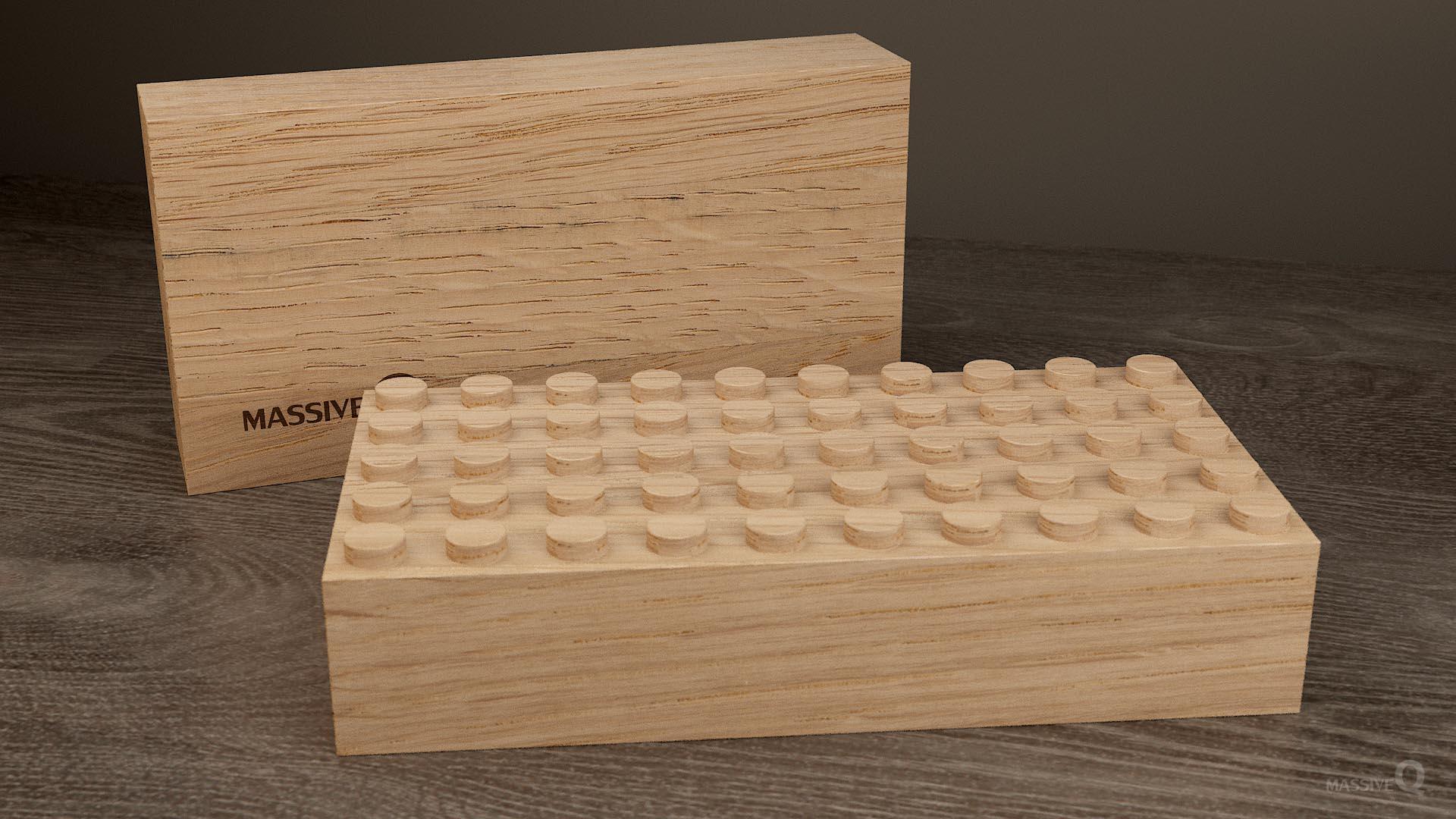 Q Baseplate 5x10x5 – Oak