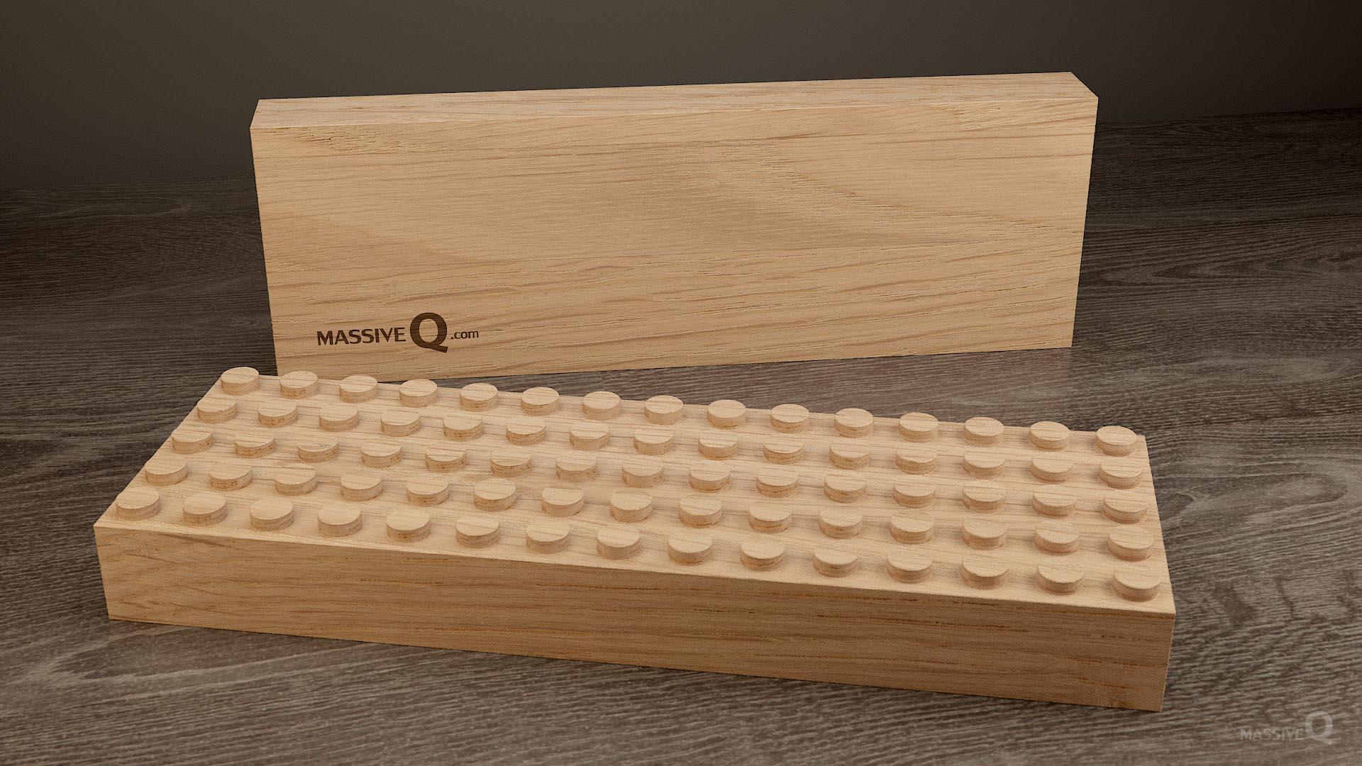 Q Baseplate 5x15x4 – Oak