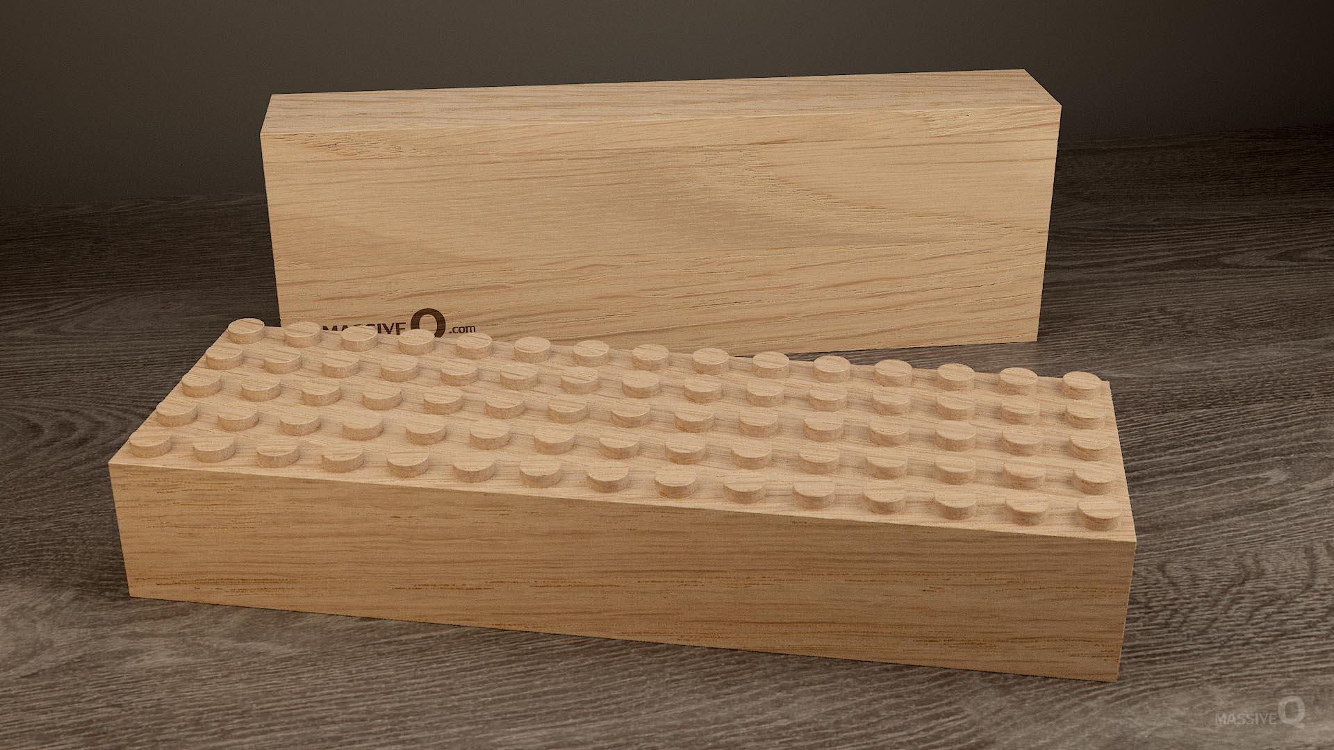 Q Baseplate 5x15x6 – Oak