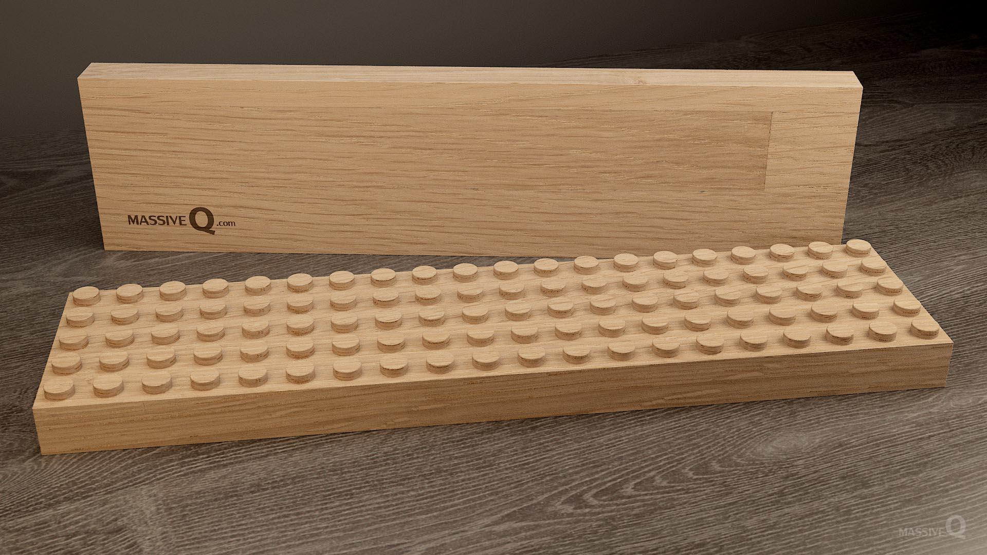 Q Baseplate 5x20x3 – Oak