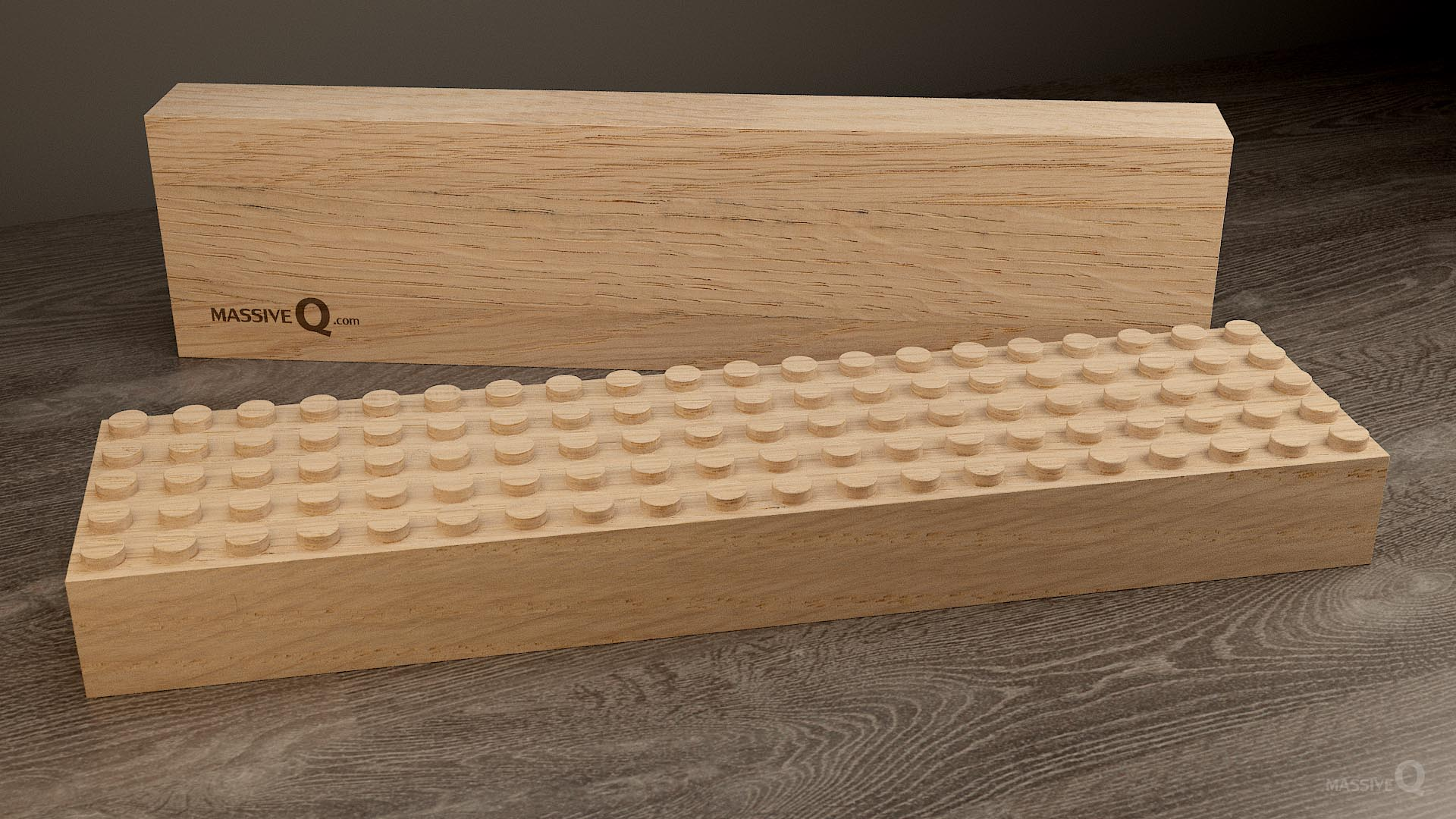 Q Baseplate 5x20x5 – Oak