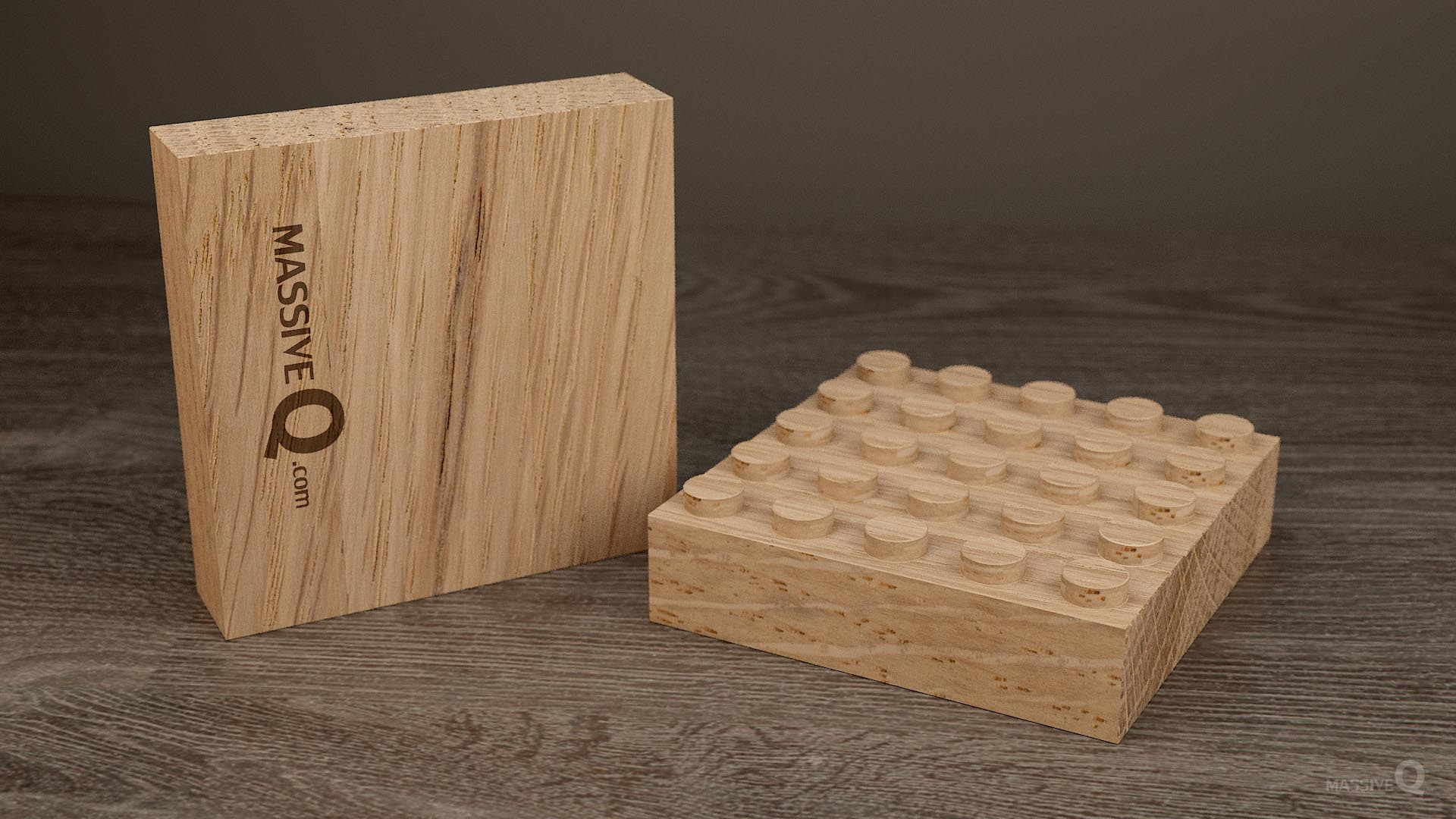 Q Baseplate 5x5x3 – Oak