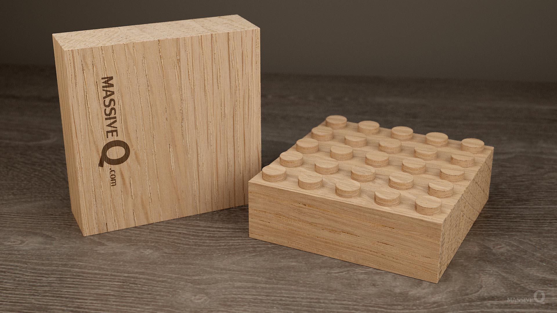 Q Baseplate 5x5x4 – Oak