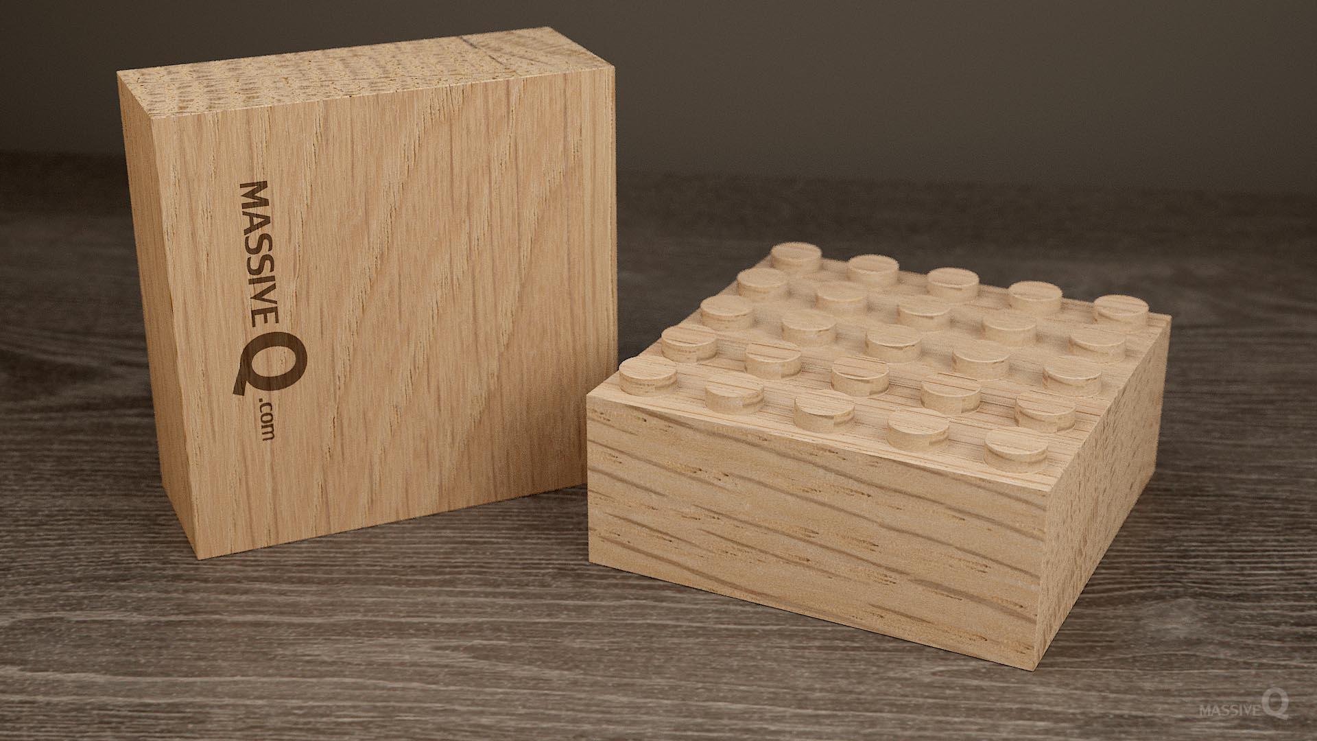 Q Baseplate 5x5x5 – Oak