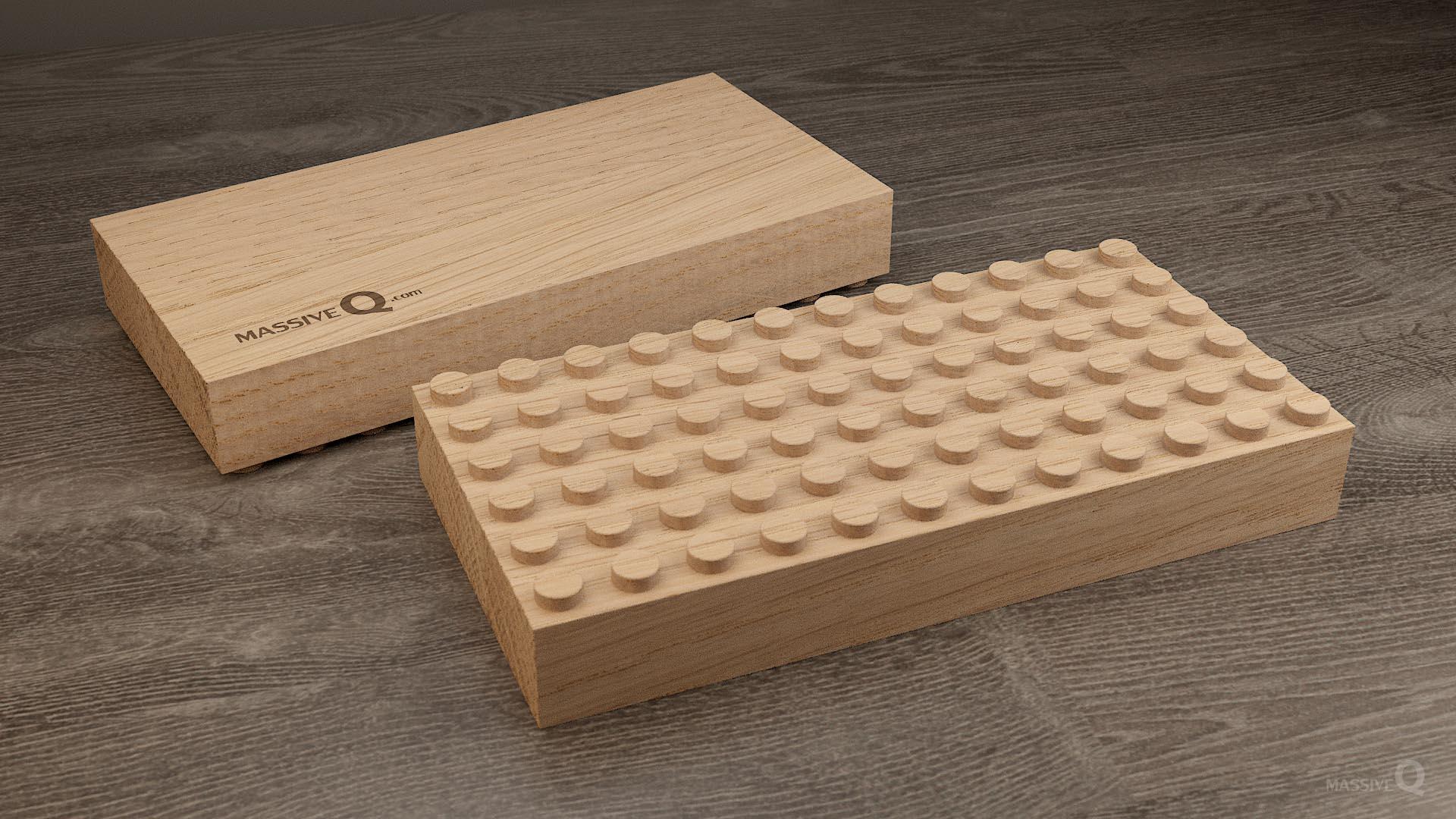 Q Baseplate 6x12x4 – Oak