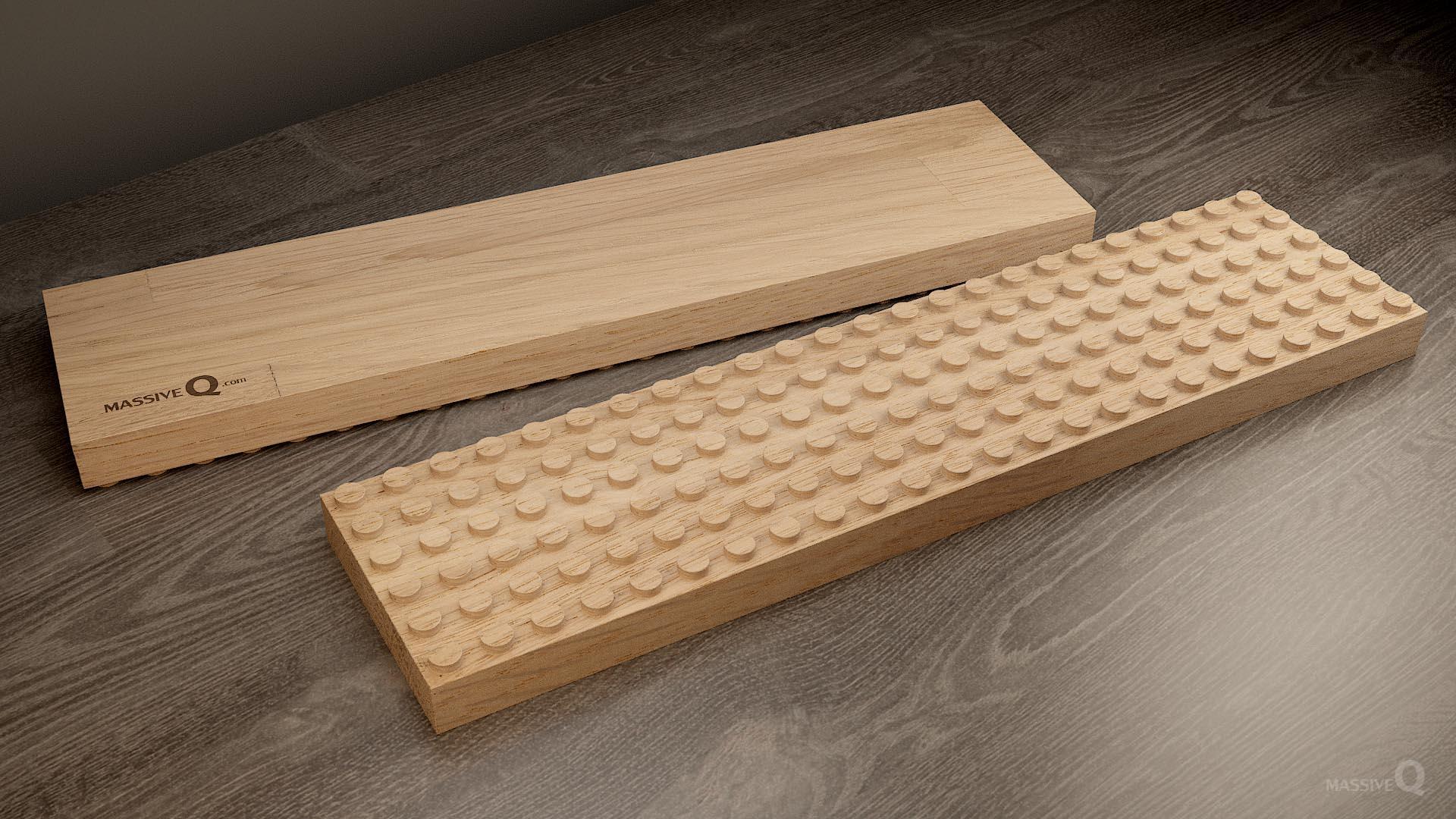 Q Baseplate 6x24x3 – Oak