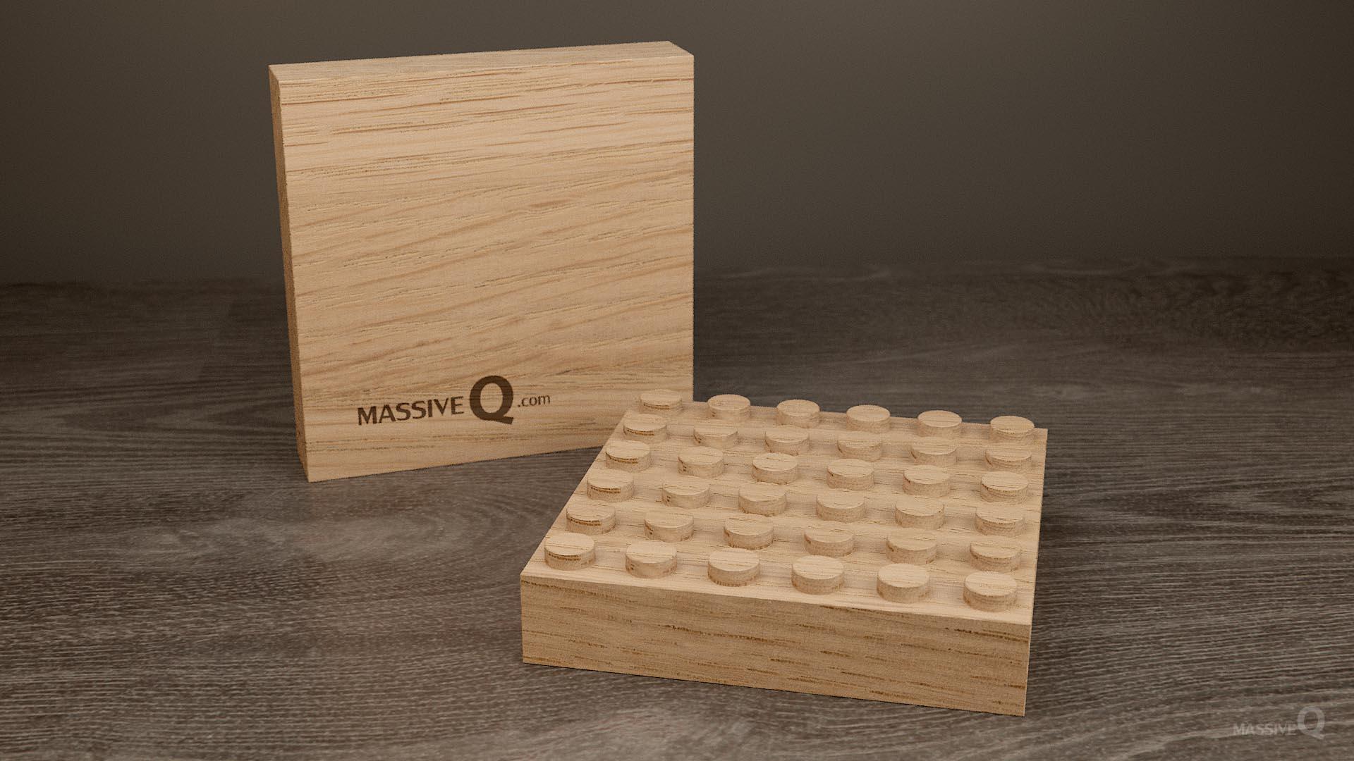 Q Baseplate 6x6x3 – Oak
