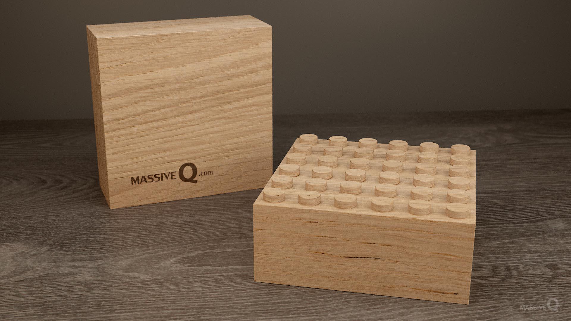 Q Baseplate 6x6x6 – Oak