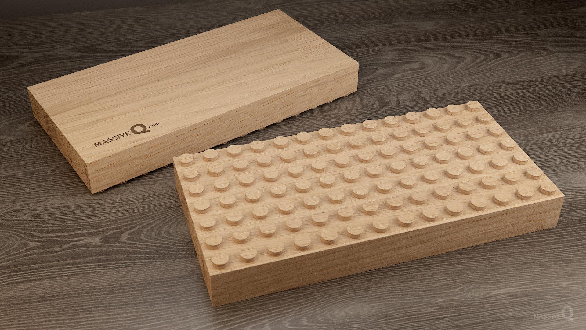 Q Baseplate 7x14x4 – Oak