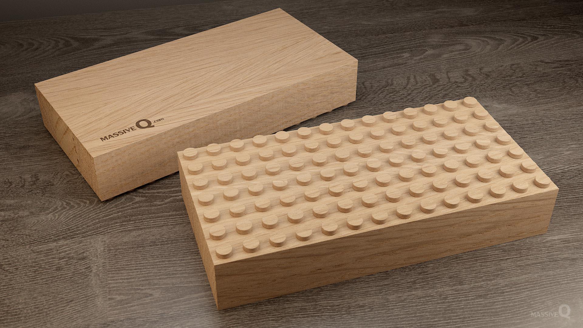 Q Baseplate 7x14x6 – Oak