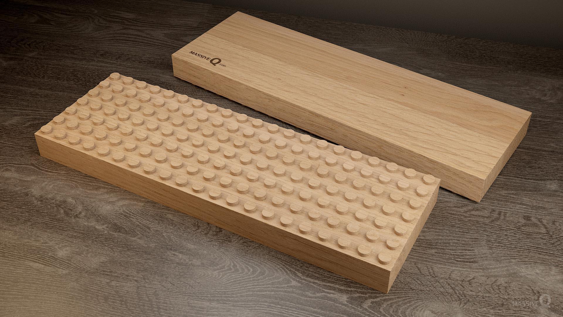 Q Baseplate 7x21x4 – Oak
