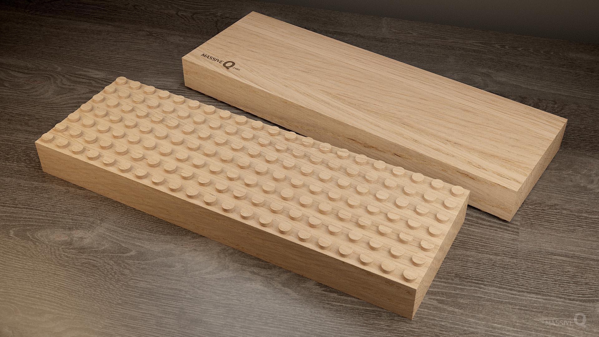 Q Baseplate 7x21x5 – Oak