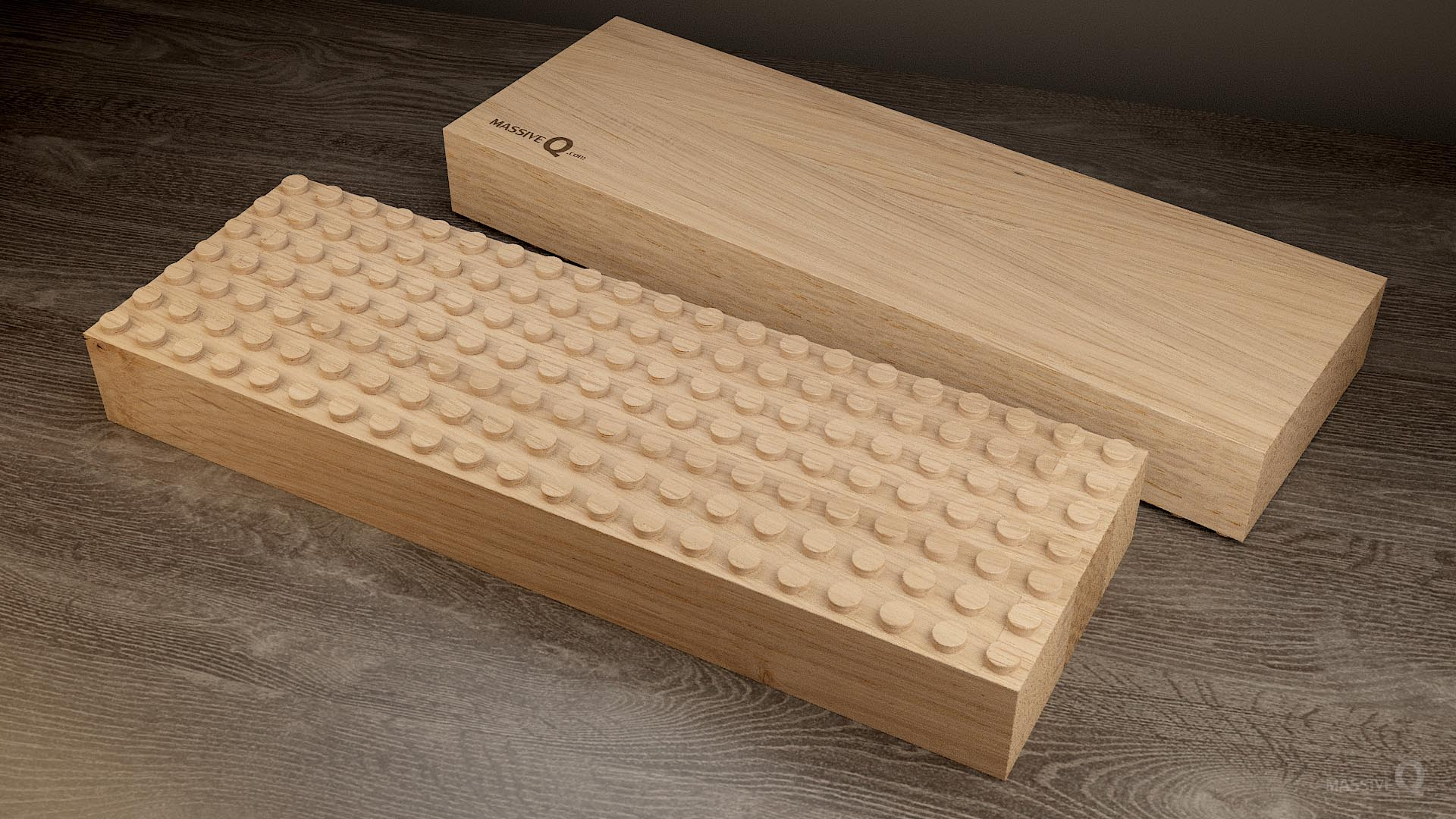 Q Baseplate 7x21x6 – Oak